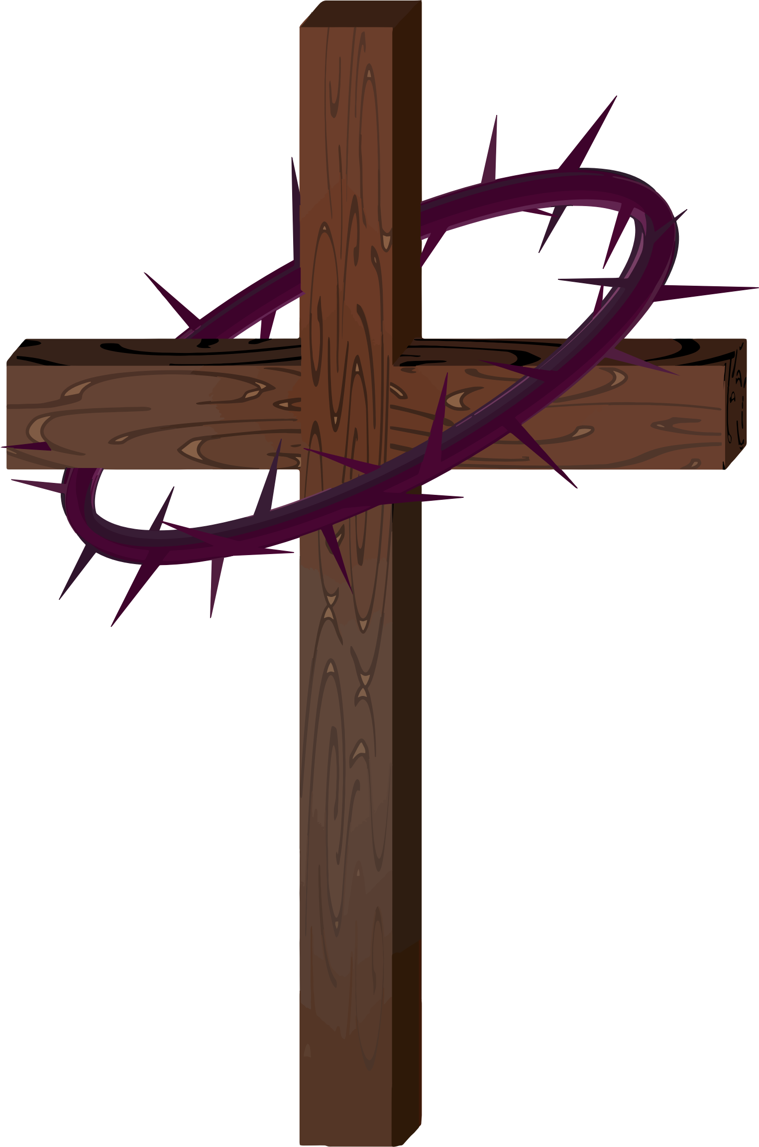 Cross With Crown Of Thorns by GDJ