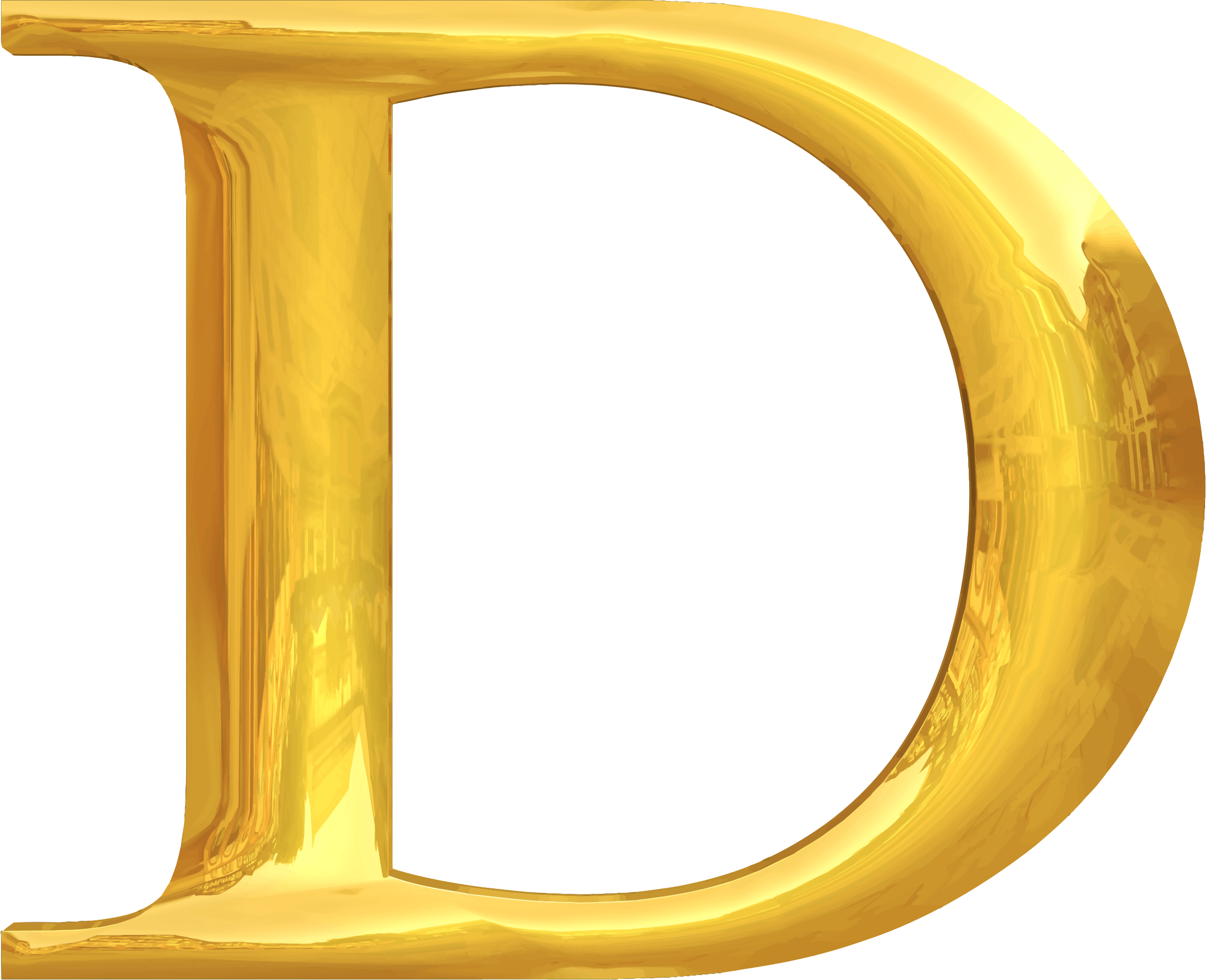 Gold typography D by Firkin