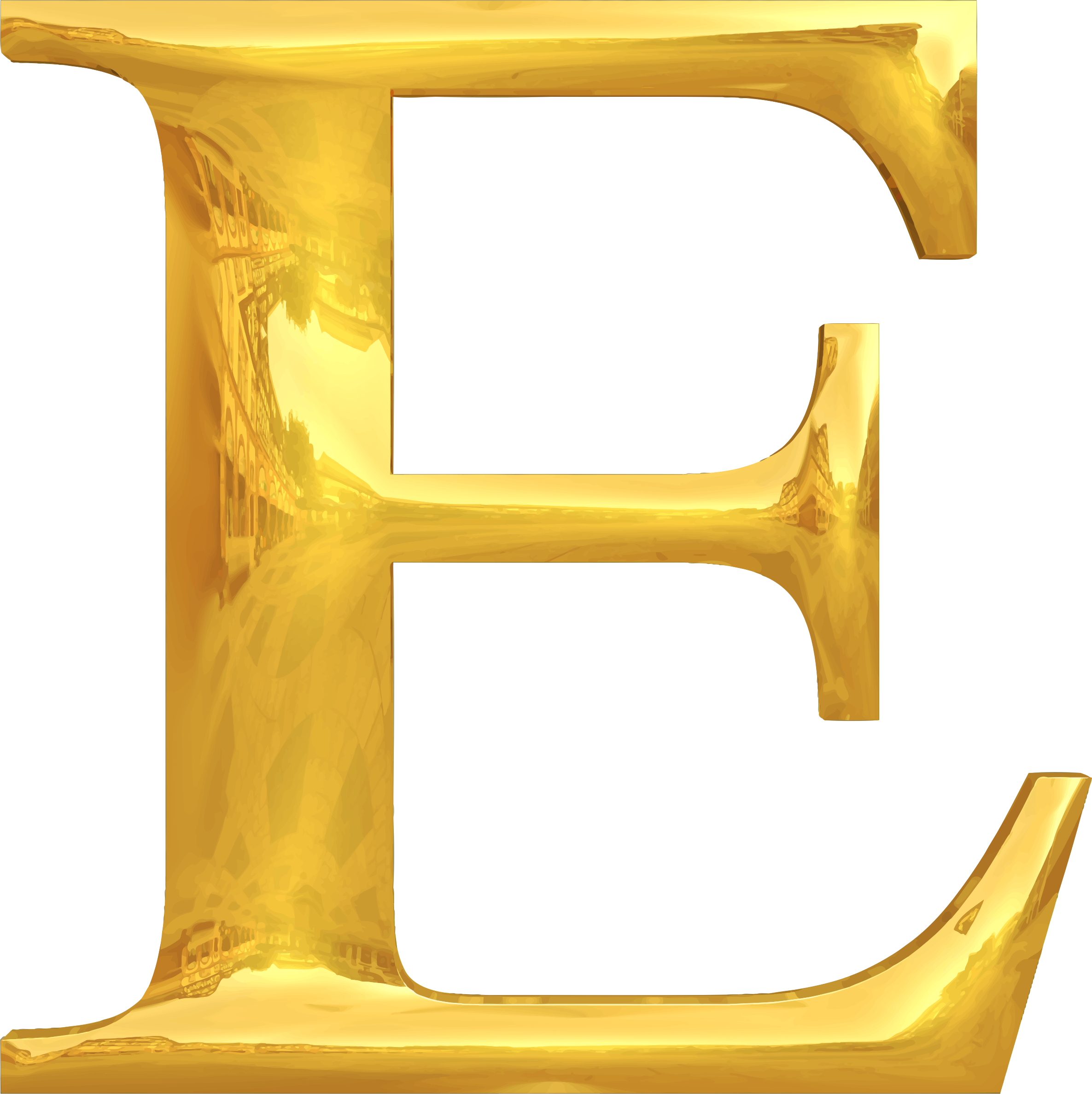 Clipart Gold Typography E