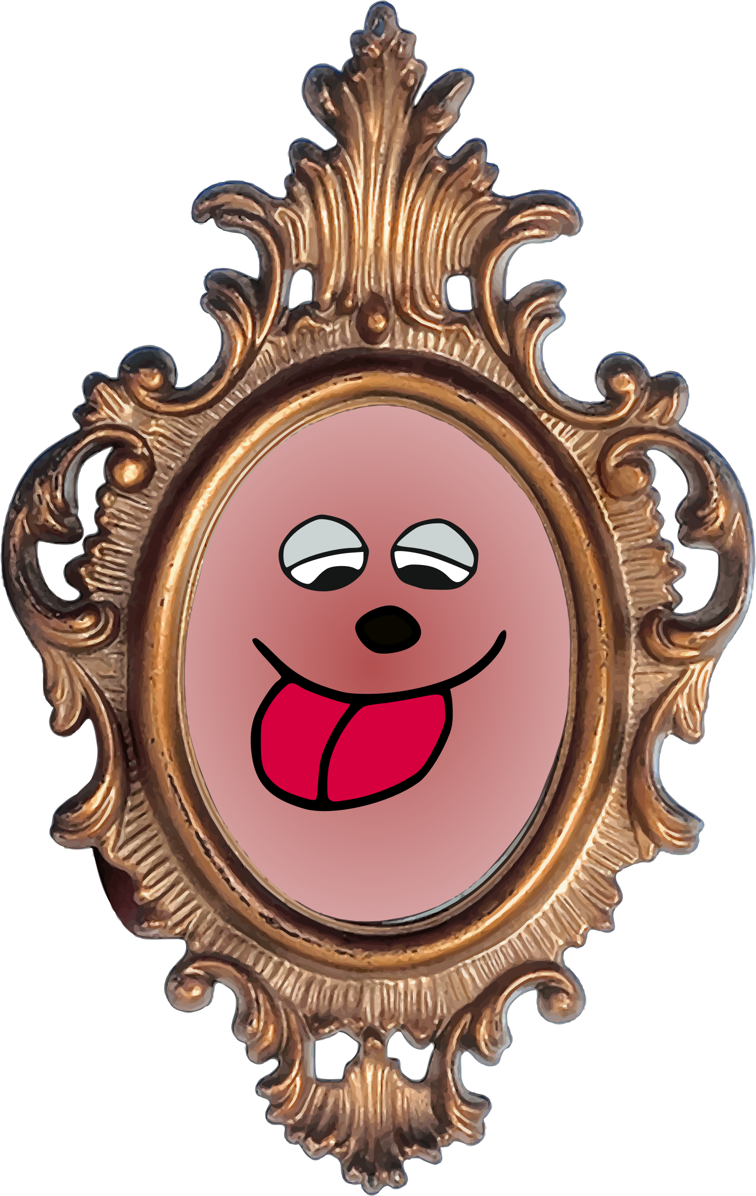 Face in Ornate Frame by Vookimedlo