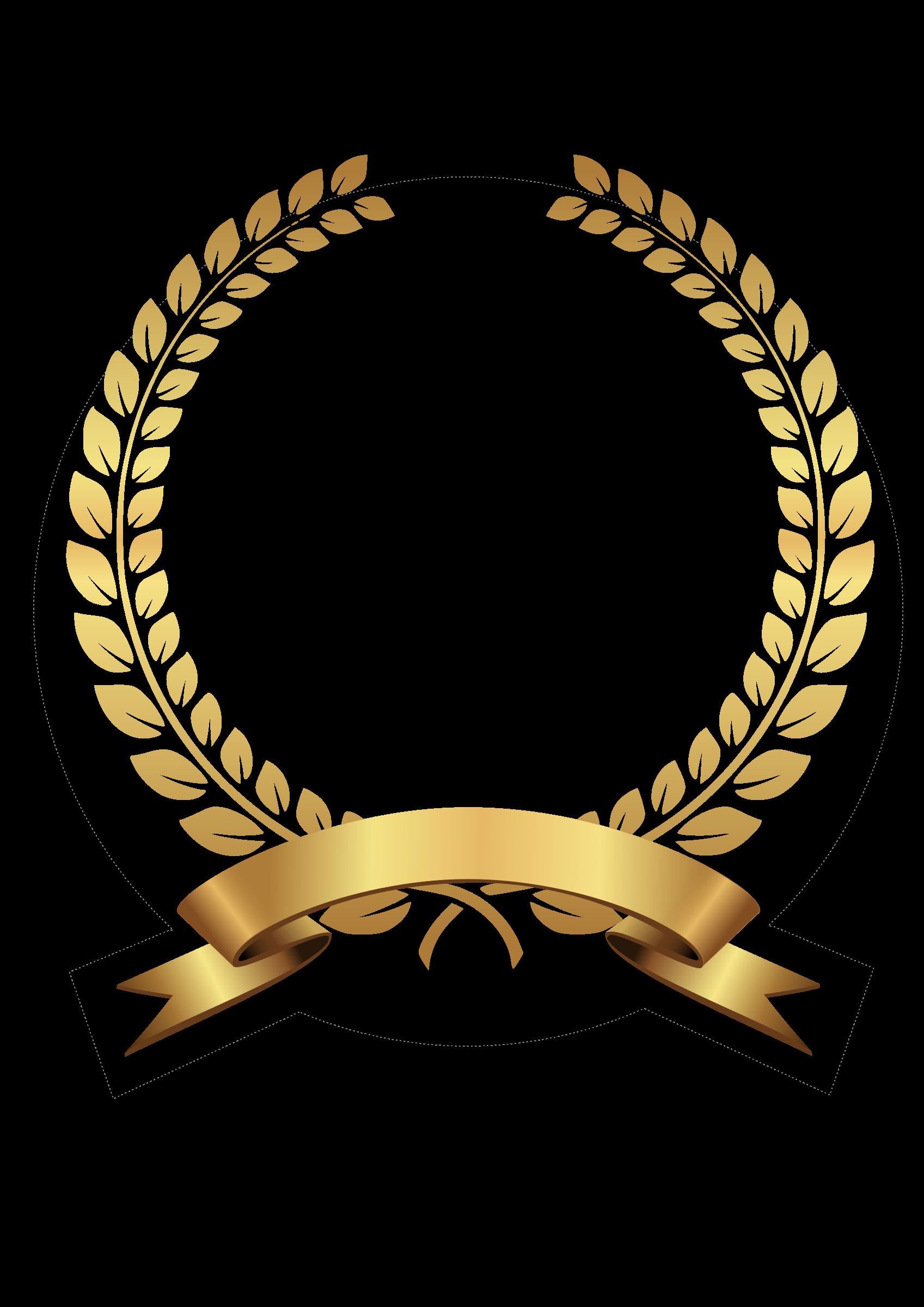 Clipart - golden laurel wreath