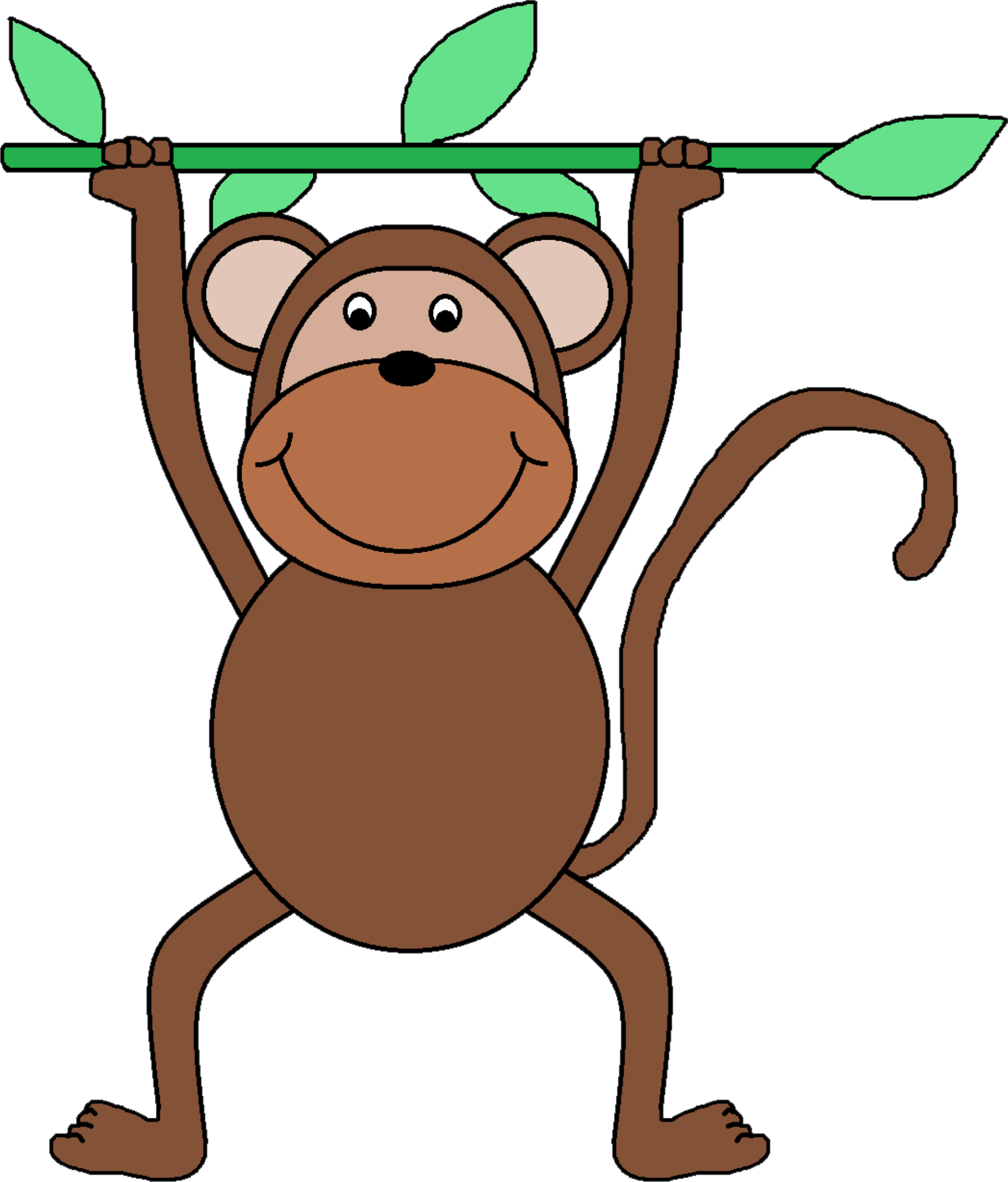 clipart monkey clip art rh openclipart org clipart of monkeys in trees clipart of monkey cartoon