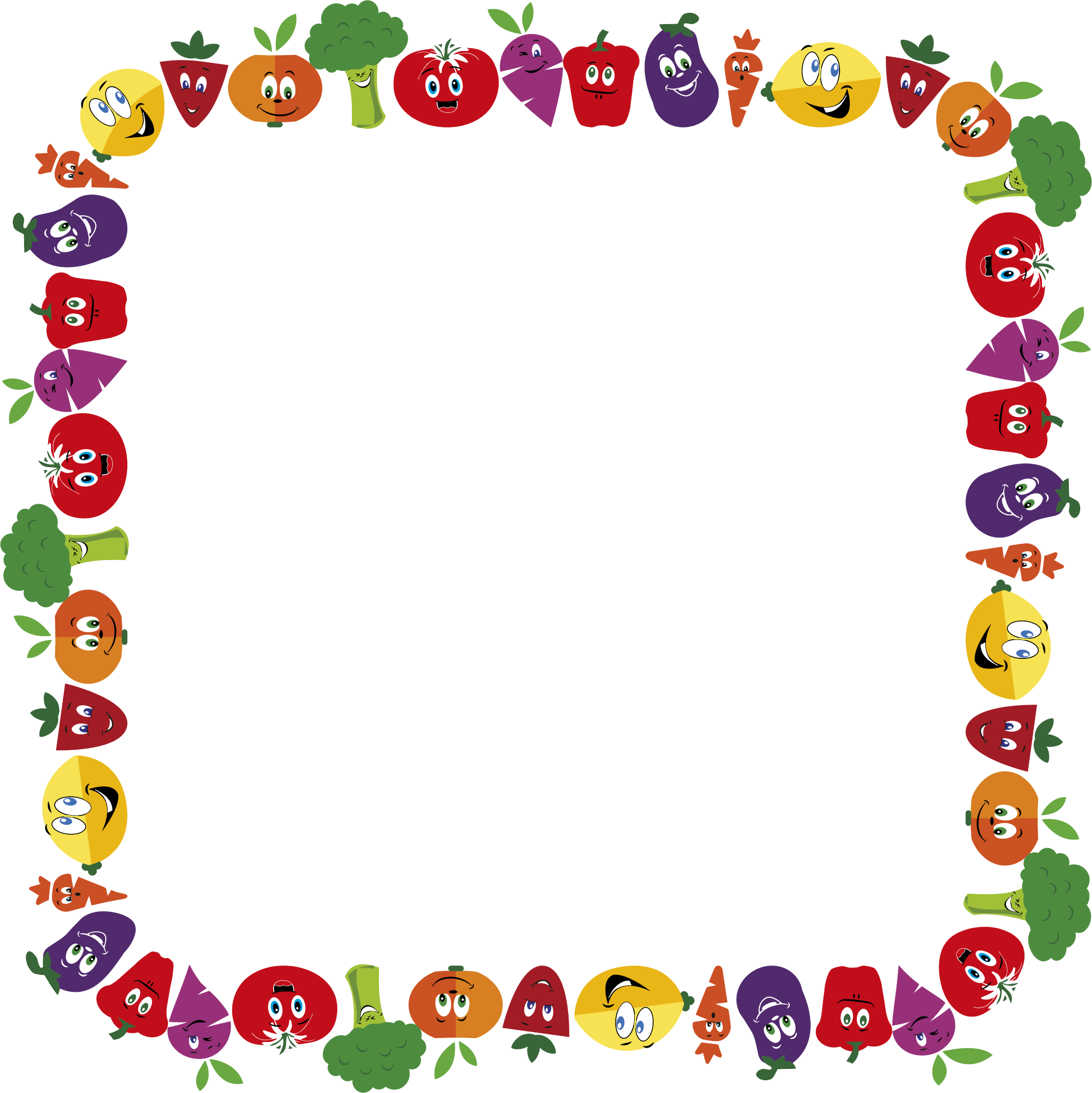 Anthropomorphic Fruits And Vegetables Frame 2 by GDJ