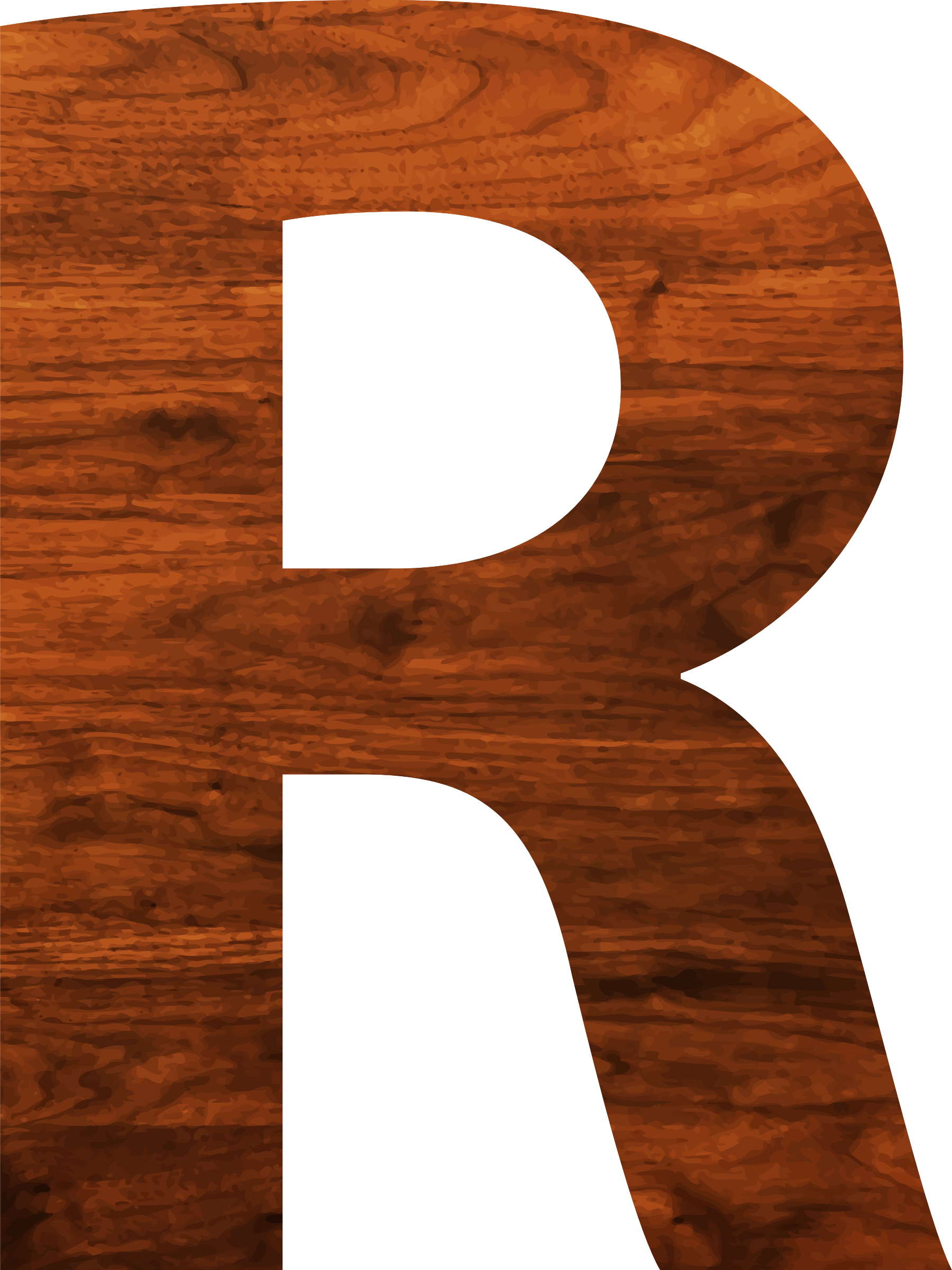 Wood texture alphabet R by Firkin