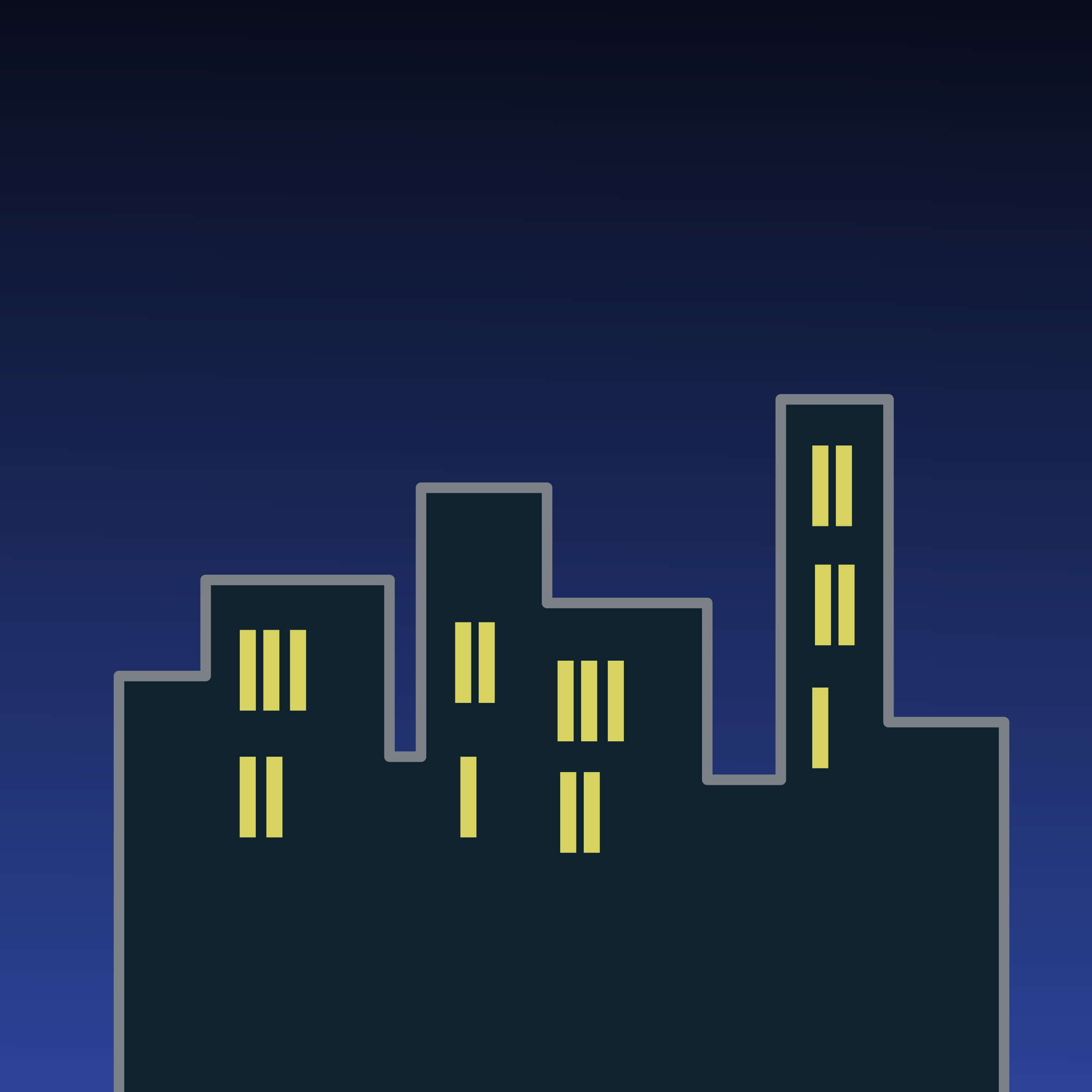 Buildings at Night Icon by j4p4n