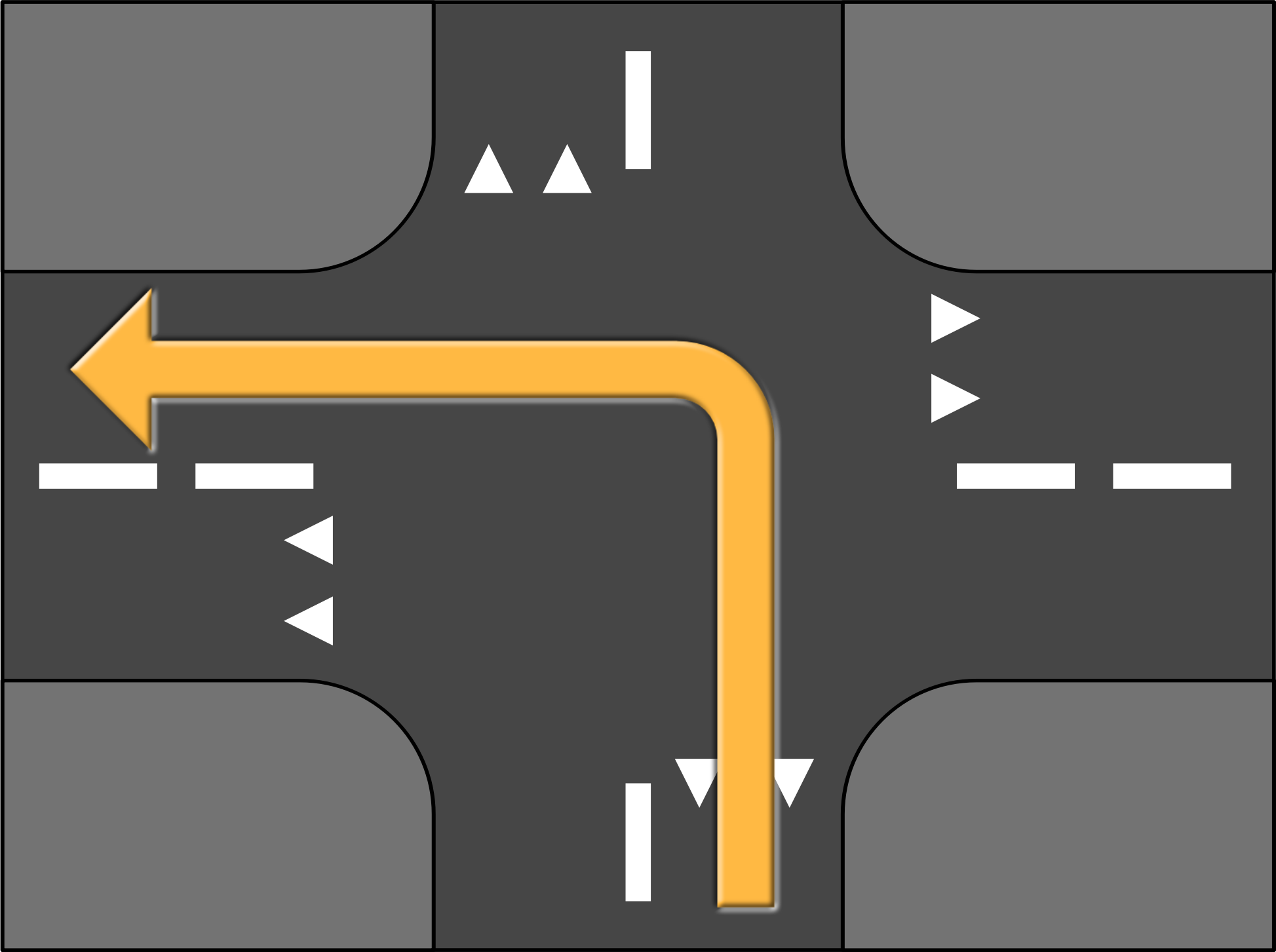 Road Crossing Turn Left by MaSc