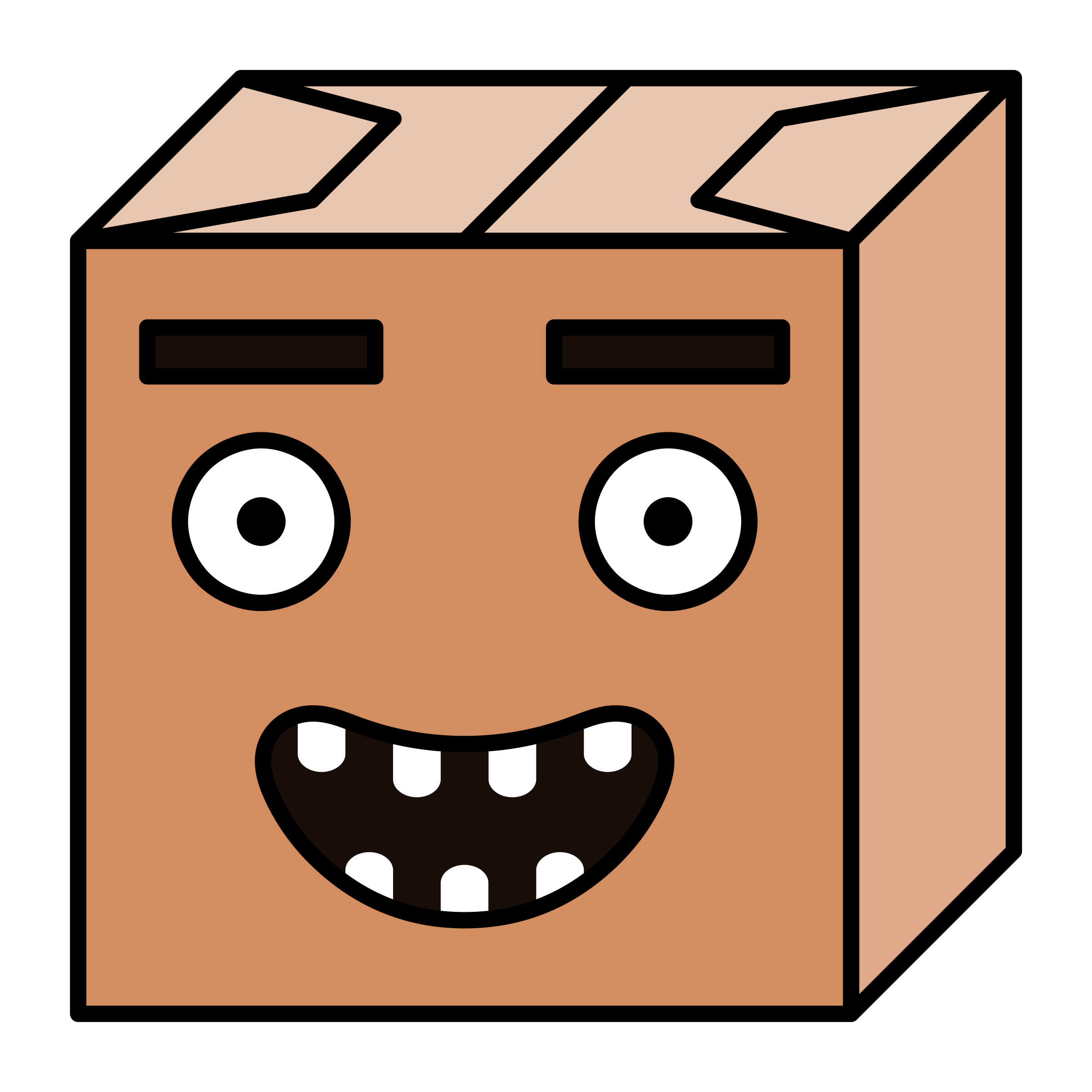 paper box head 2 by Lazur URH