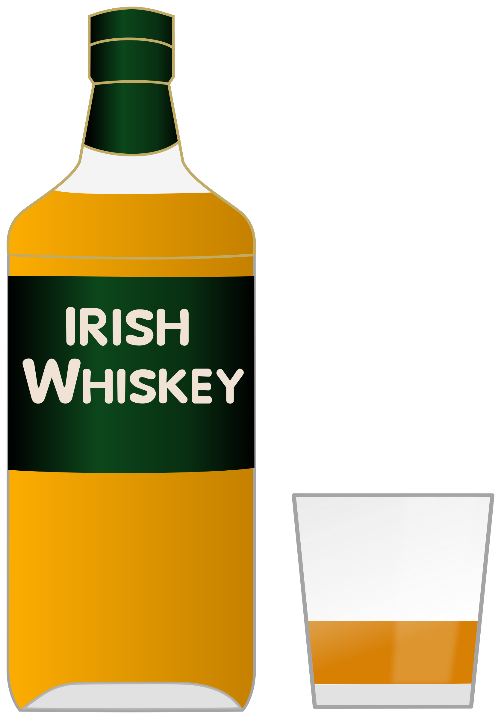 Bottle of Irish whiskey and a glass by Juhele