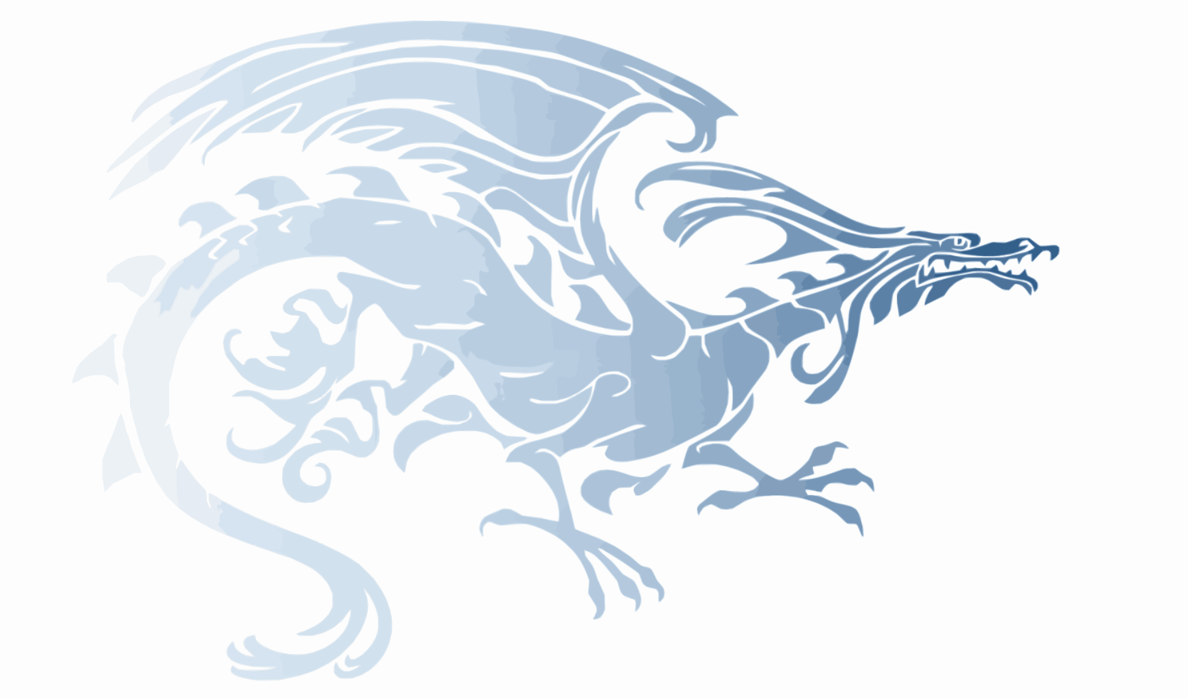 Light Blue Upright Tribal Dragon by Falco276