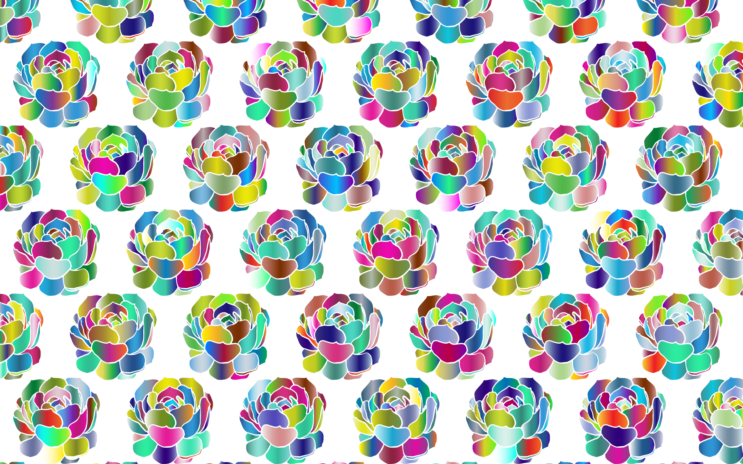 Chromatic Flowers Pattern by GDJ