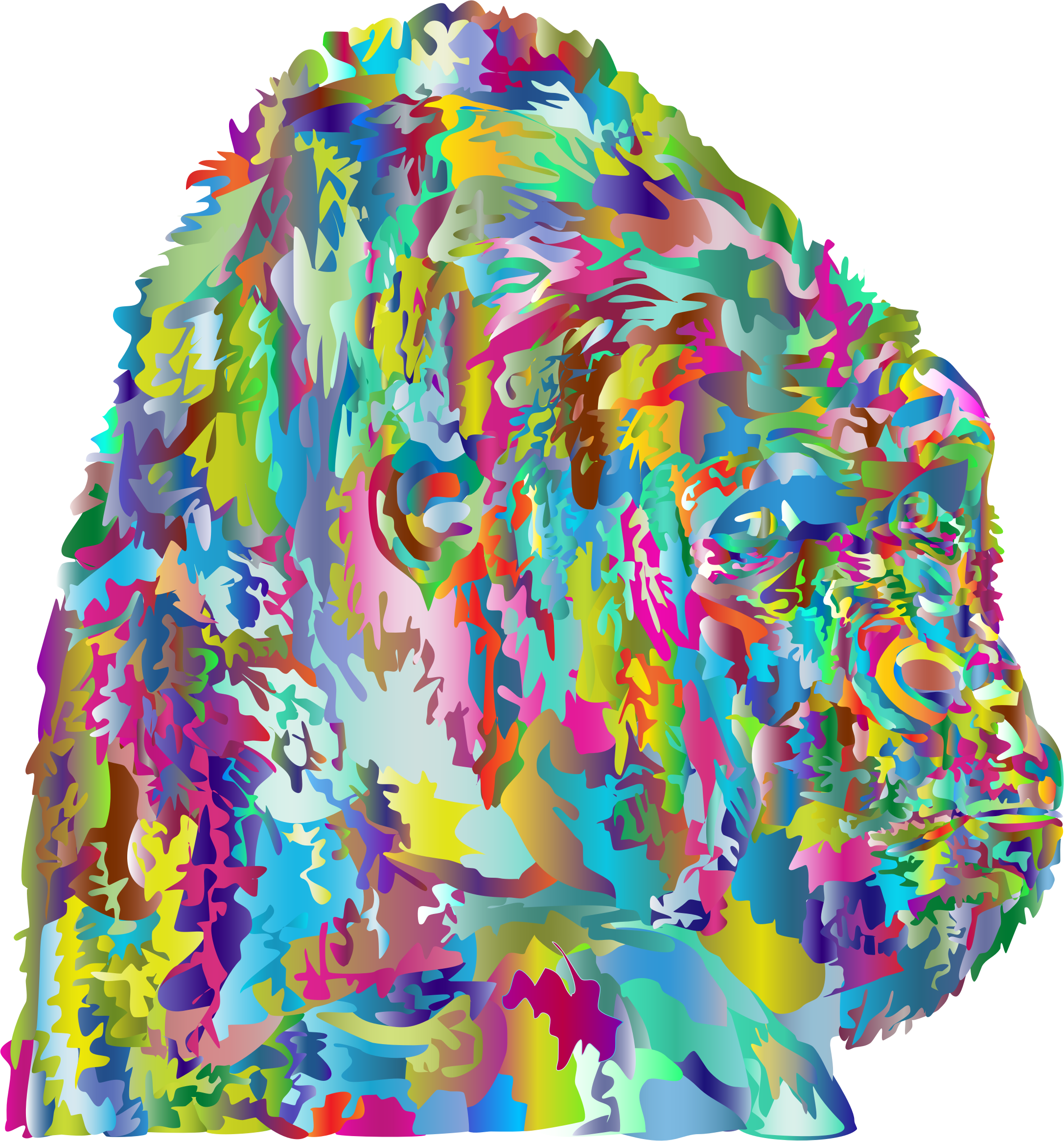 Prismatic Stylized Gorilla by GDJ