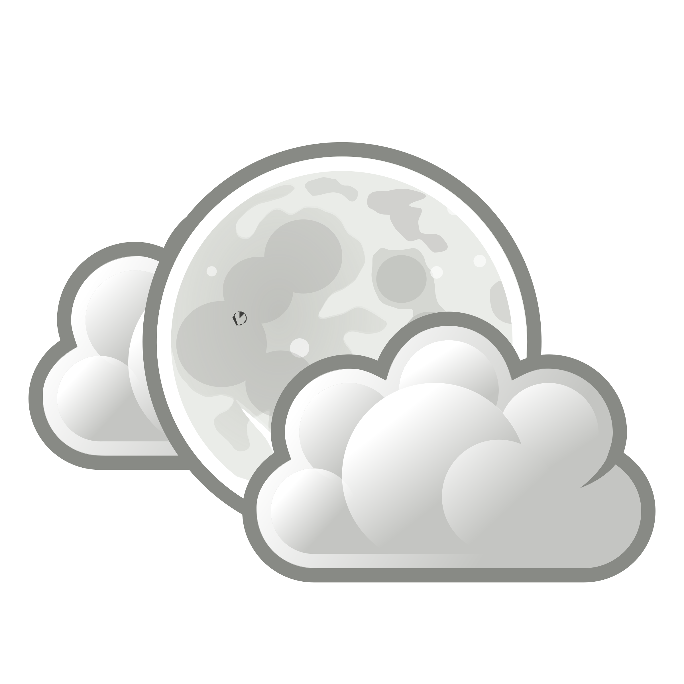 clipart tango weather few clouds night