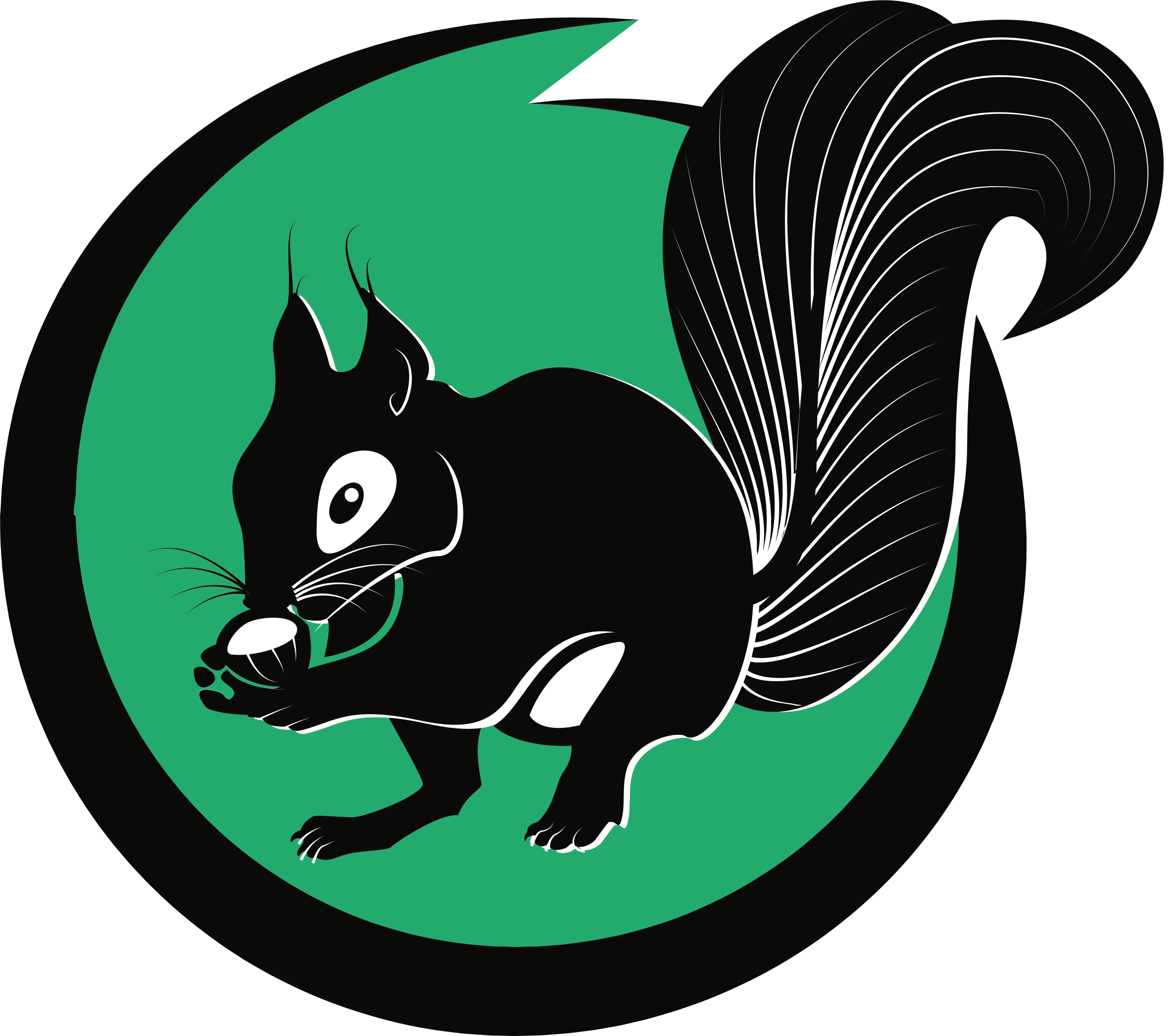 Squirrel Logo by oksmith