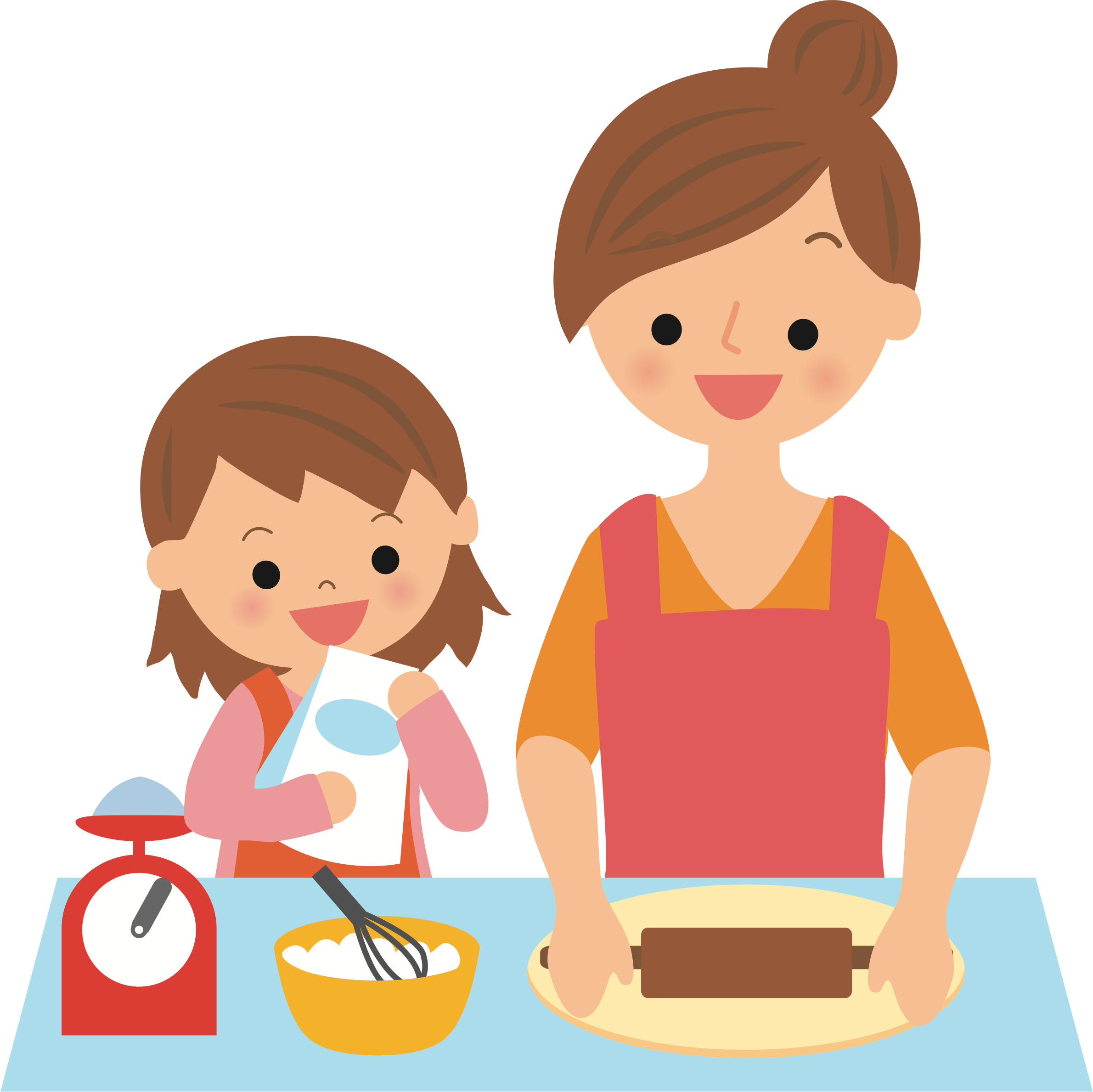 Baking with Mother by oksmith