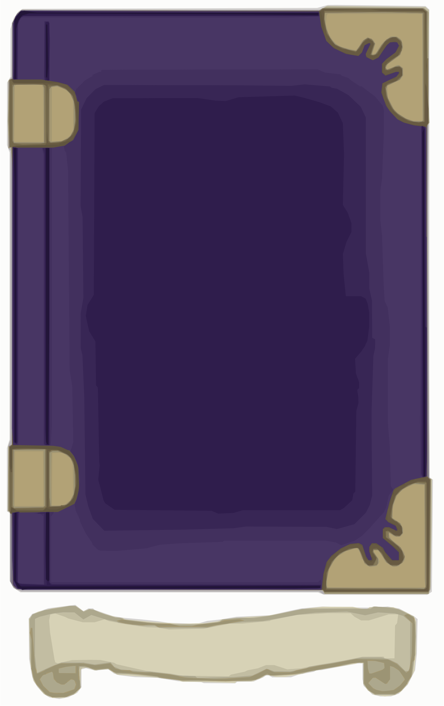 Purple and Gold Book Template by Falco276