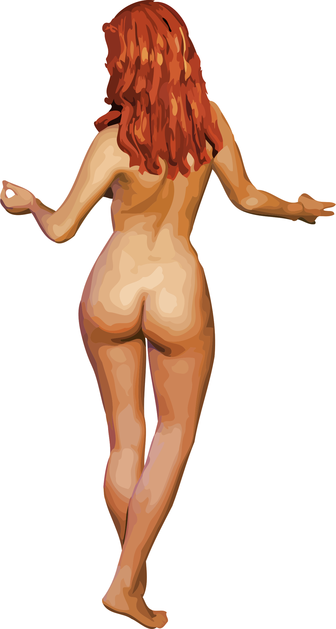 Young lady 4 (light skin, red hair) by Firkin