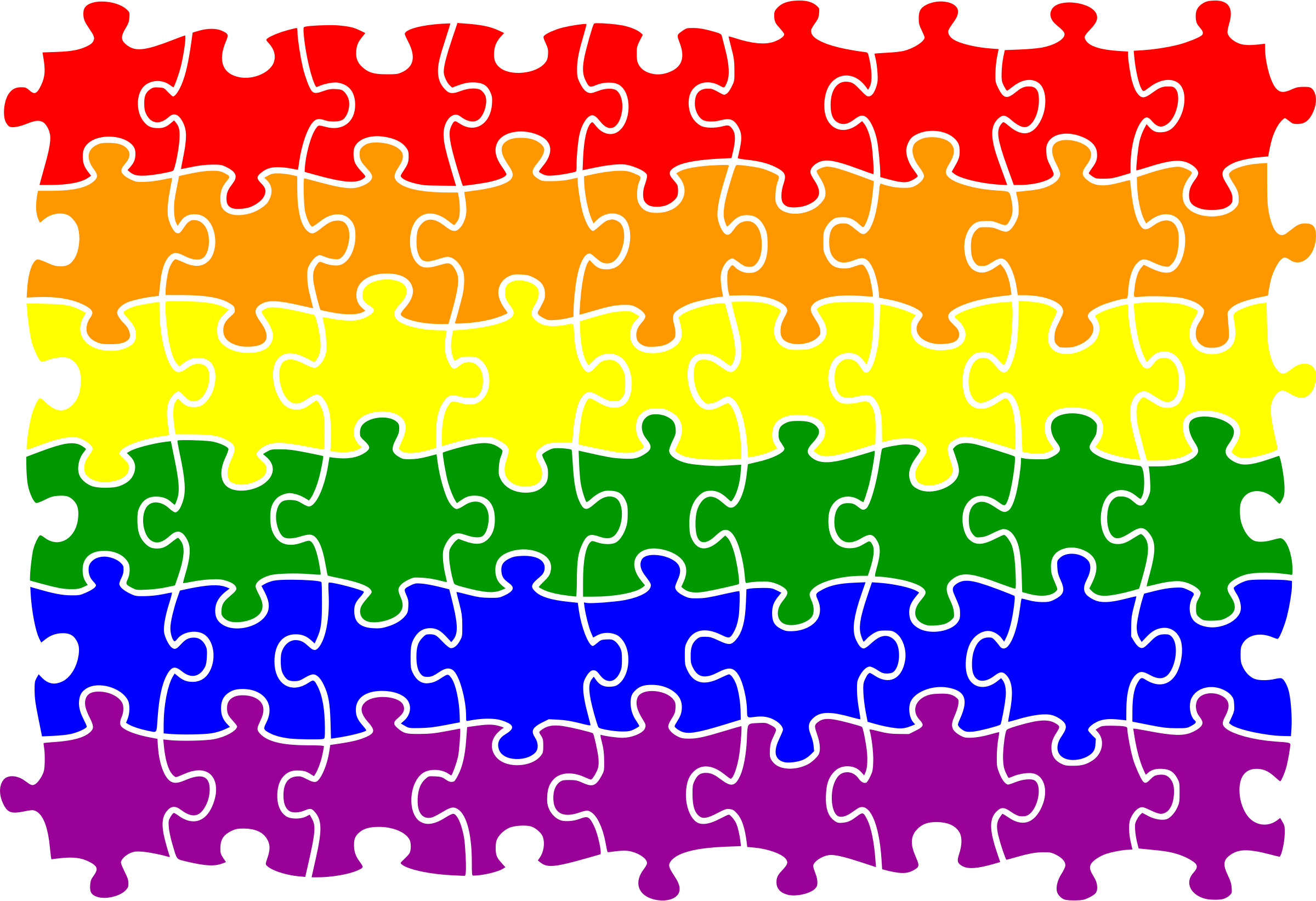 Rainbow flag jigsaw by Firkin