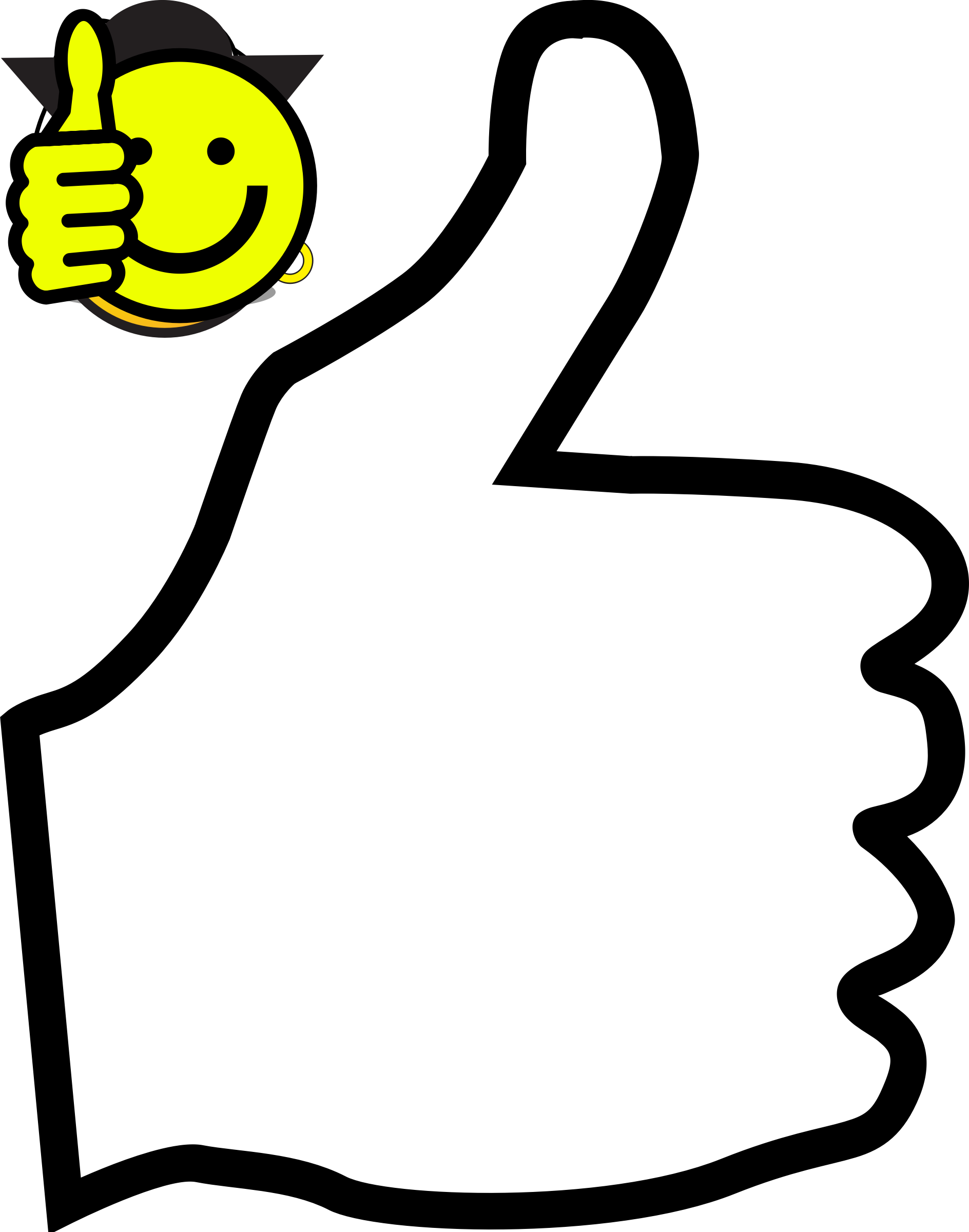 Thumbs up icon outline by pilgrim7001