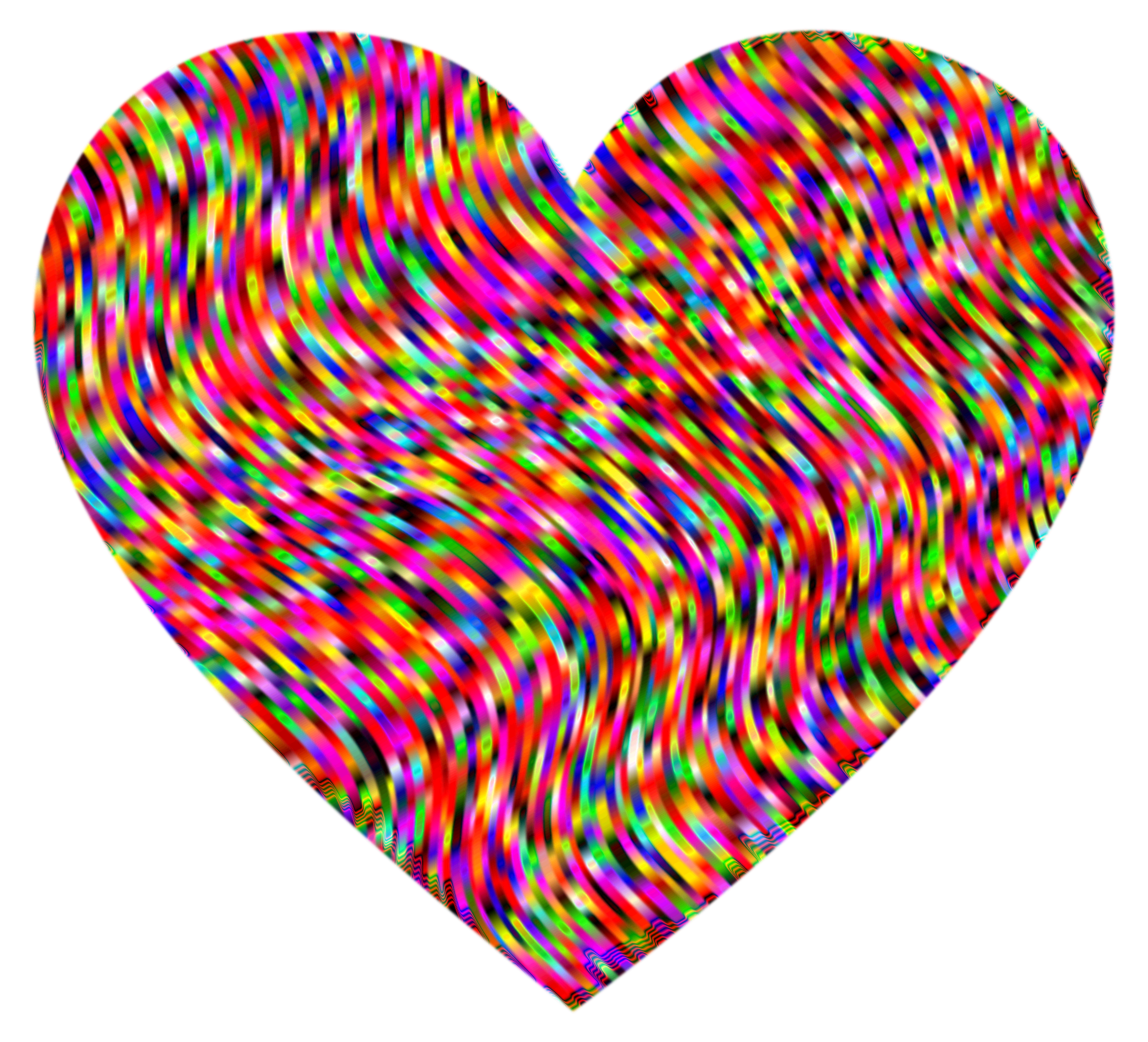 Heart Waves Psychedelic by GDJ