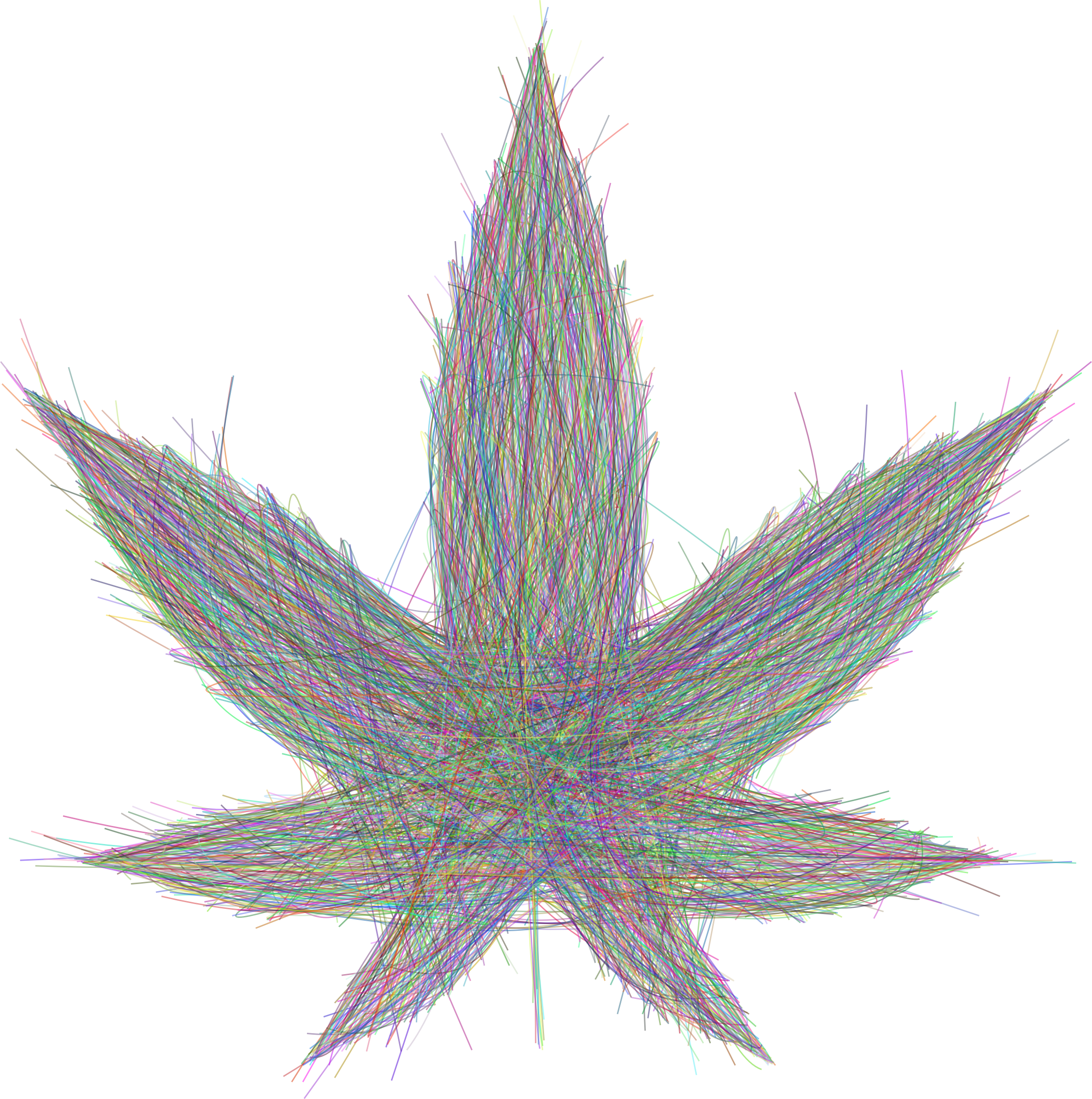 Marijuana Leaf Bezier by GDJ