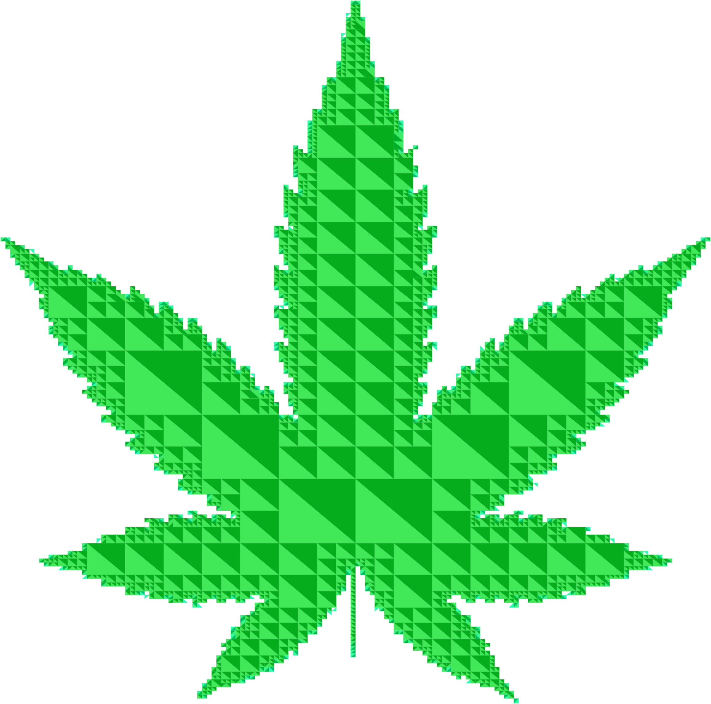 Triangular Marijuana Leaf by GDJ