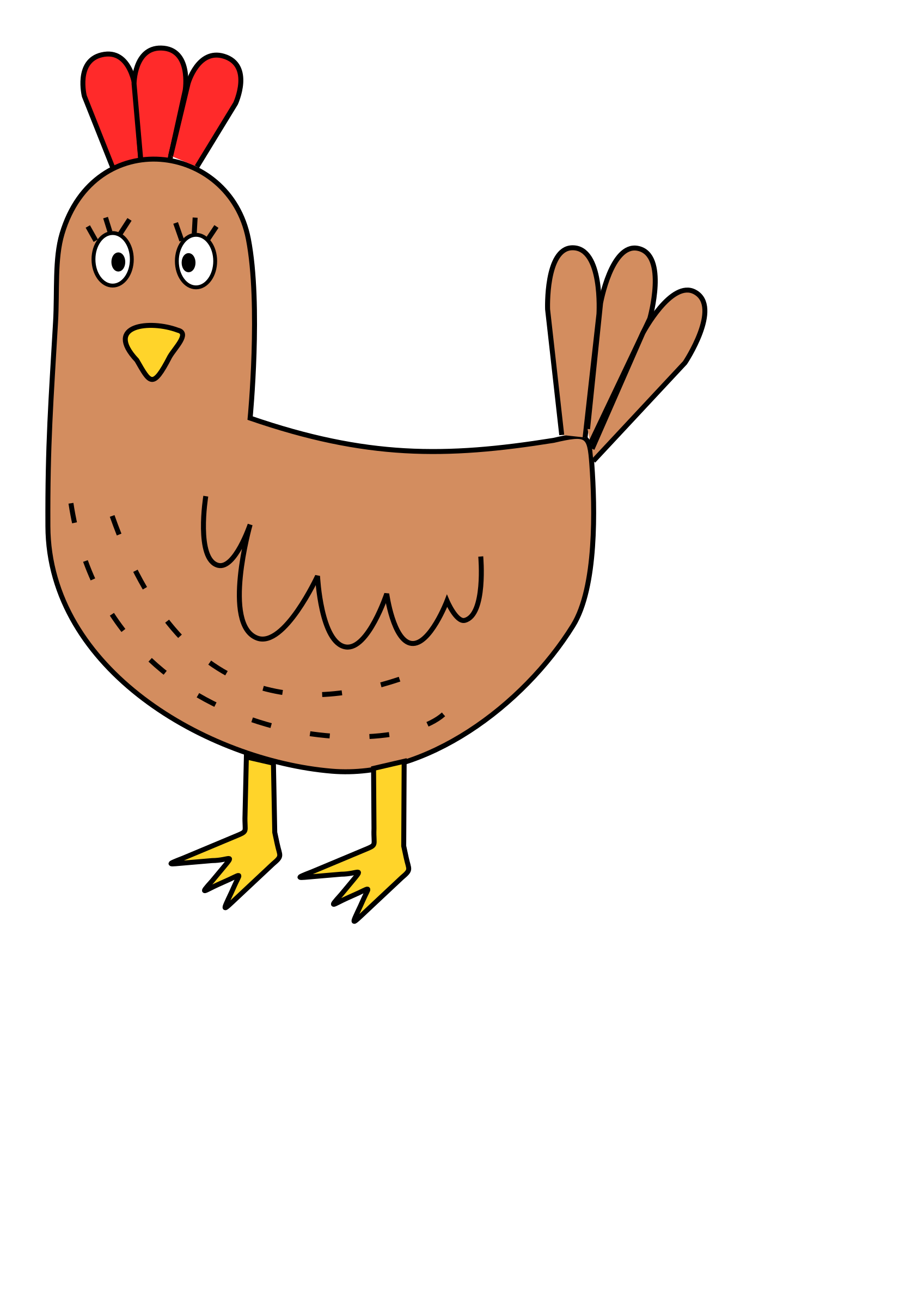 Cartoon chicken by Bingenberg