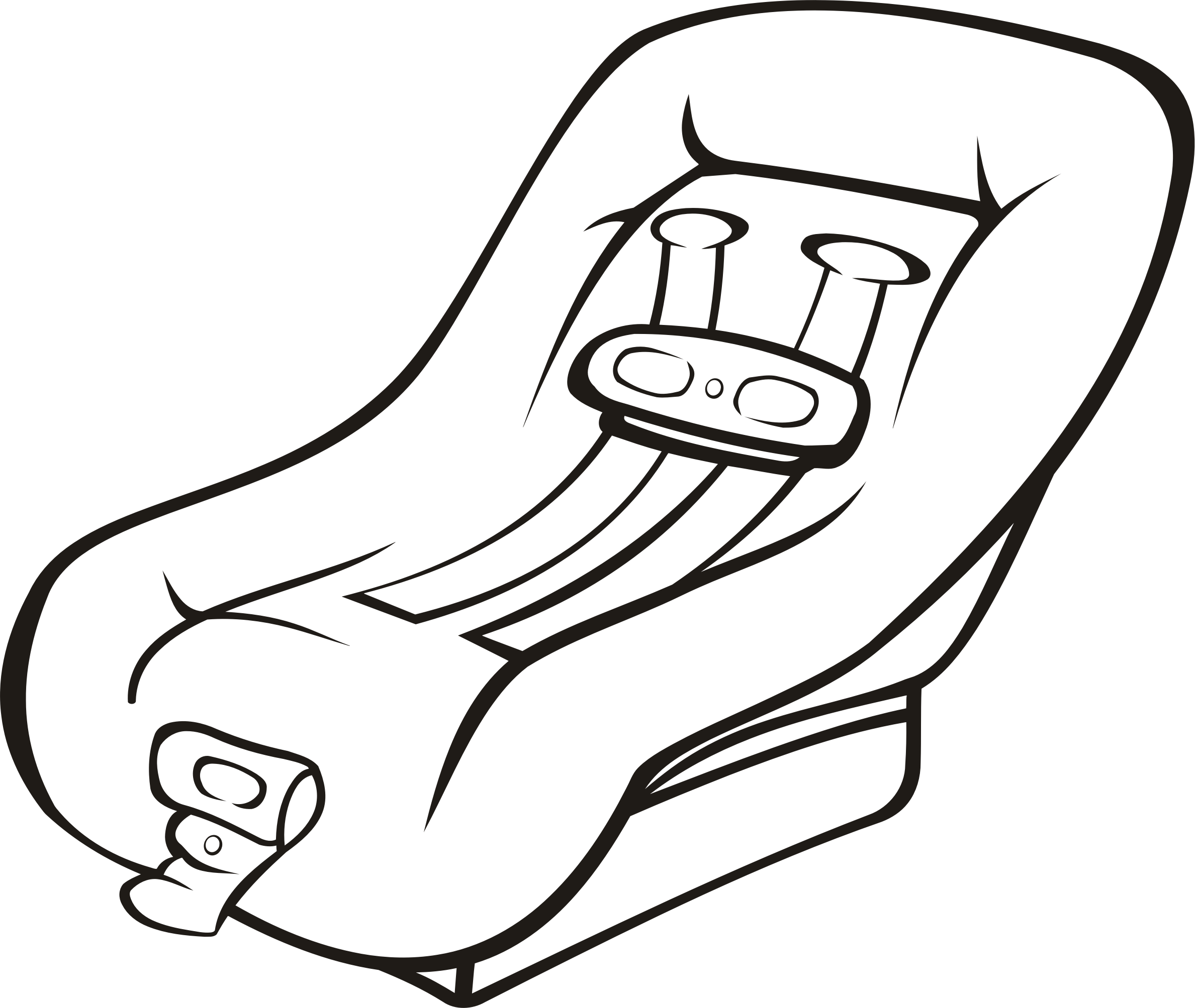 Car seat (outline) by Firkin