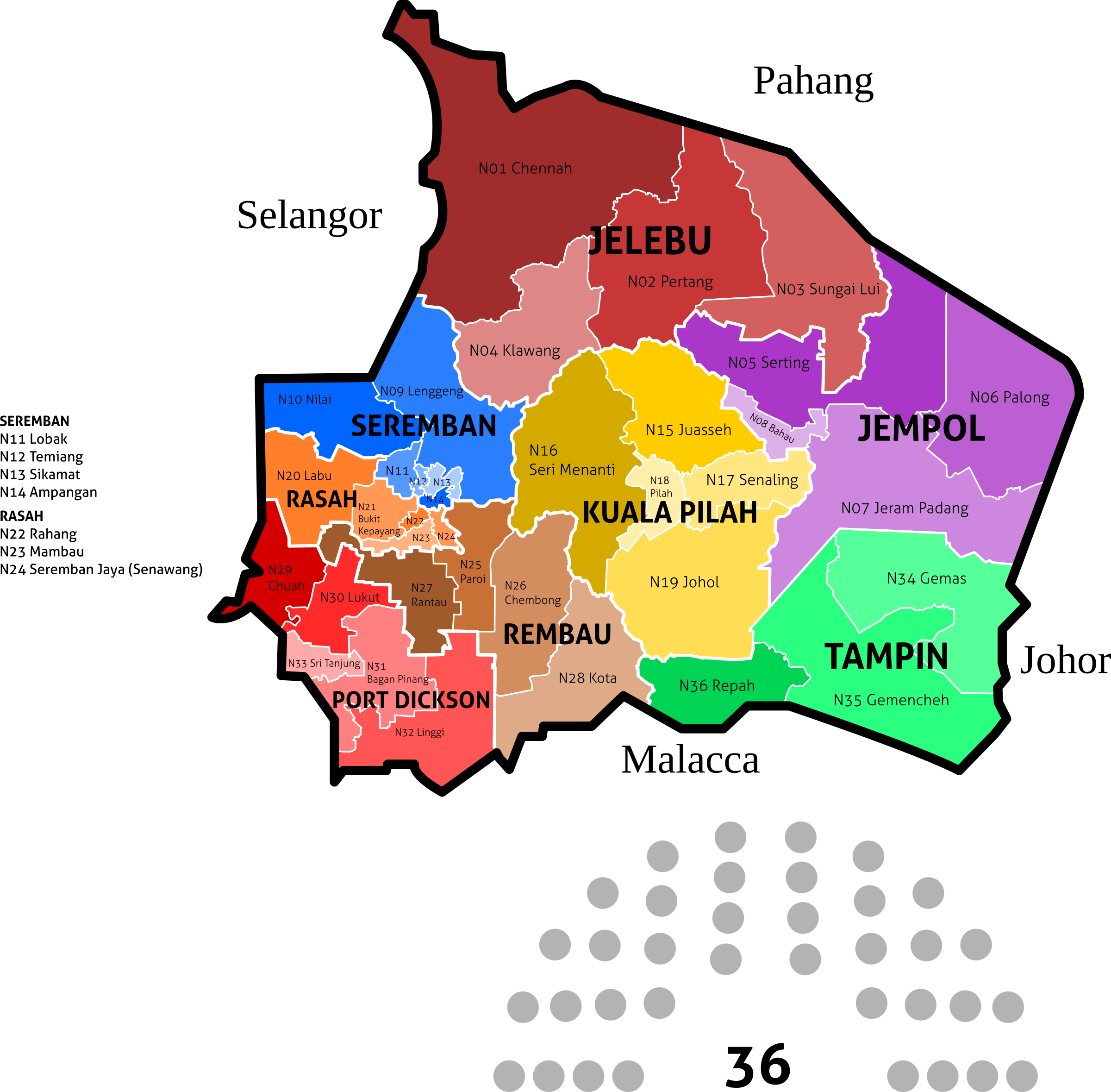 Negeri Sembilan State Legislative Assembly Constituencies - 2018 by derkommander0916