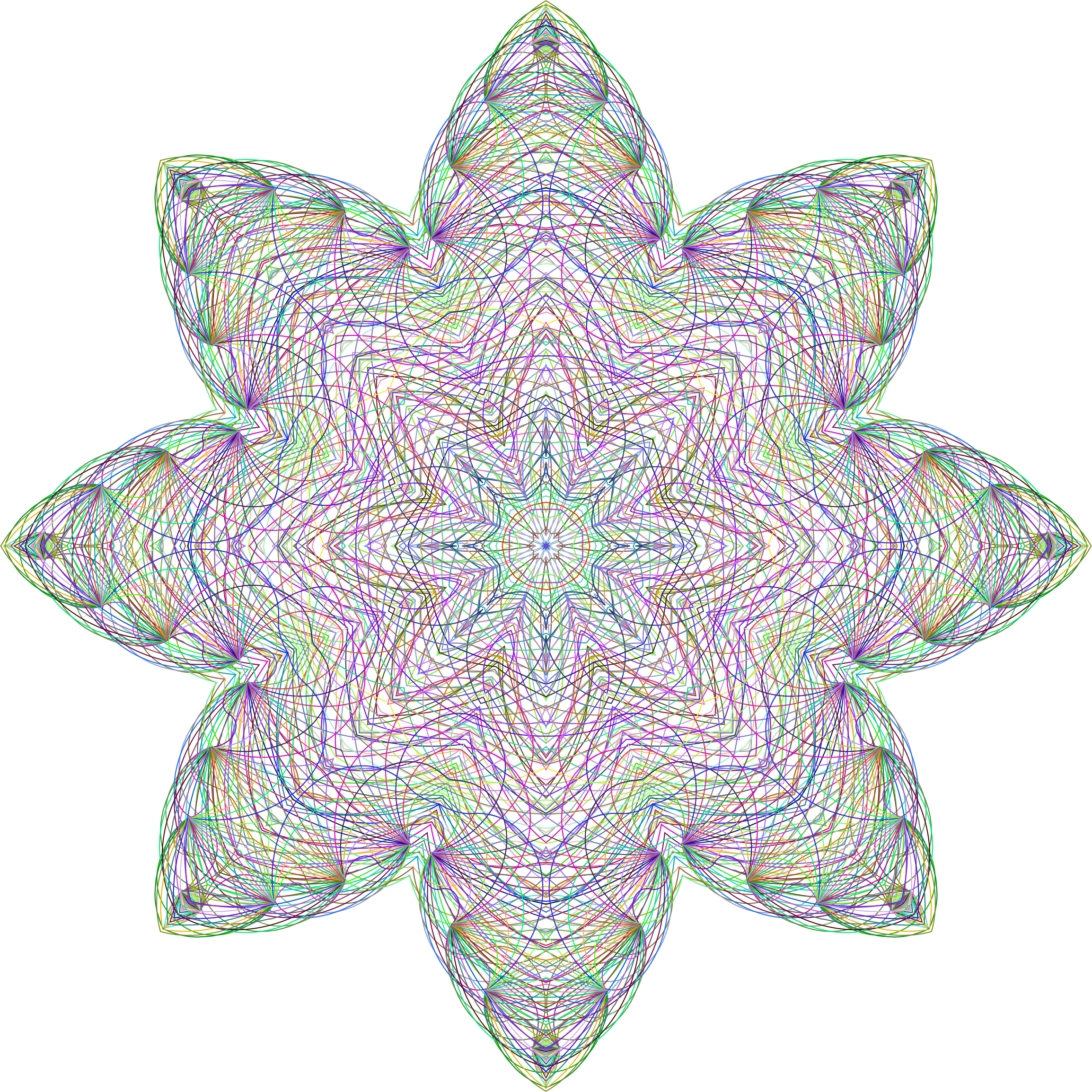 Mandala Flare No BG by GDJ