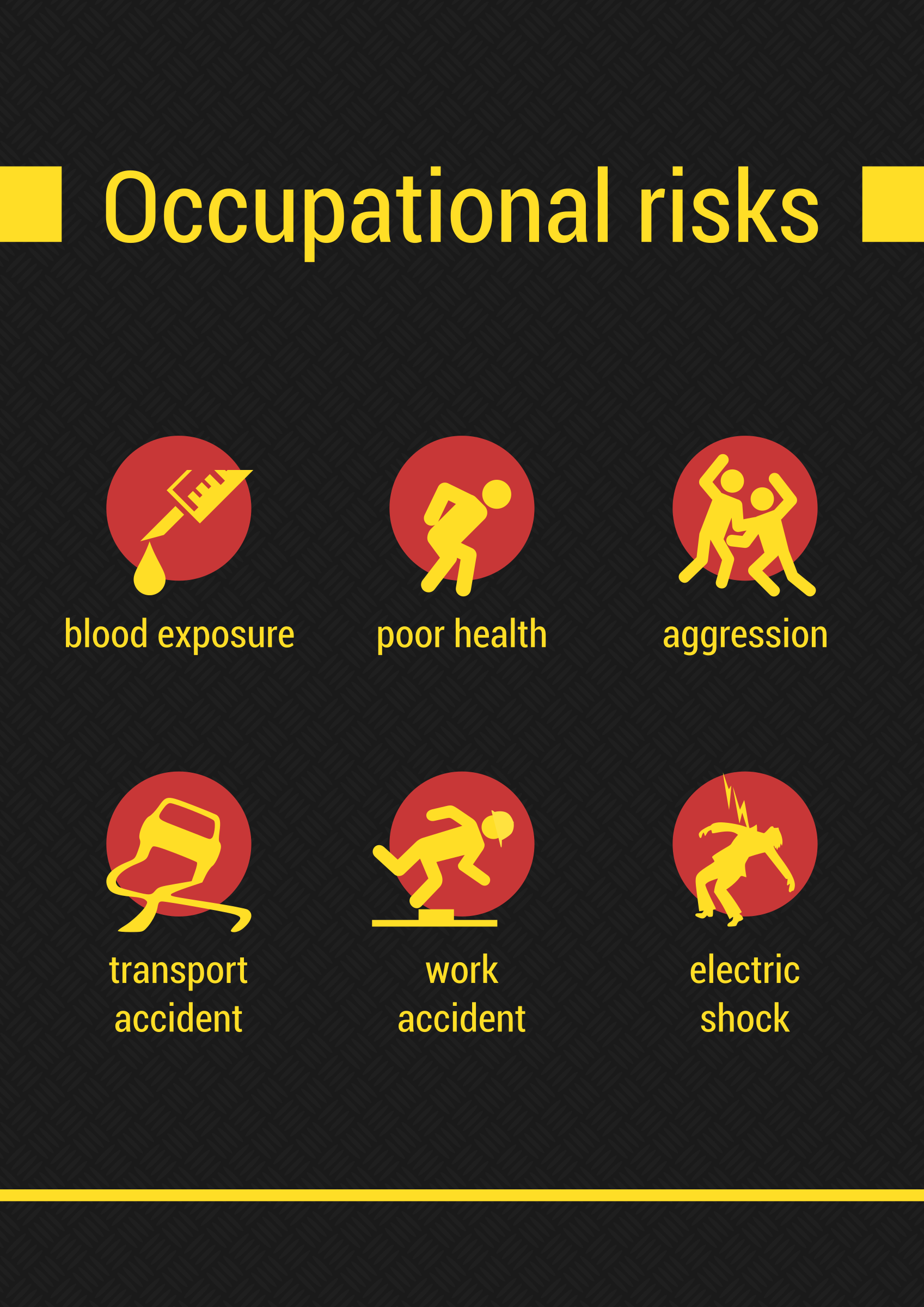 Occupational risks icons by m1981