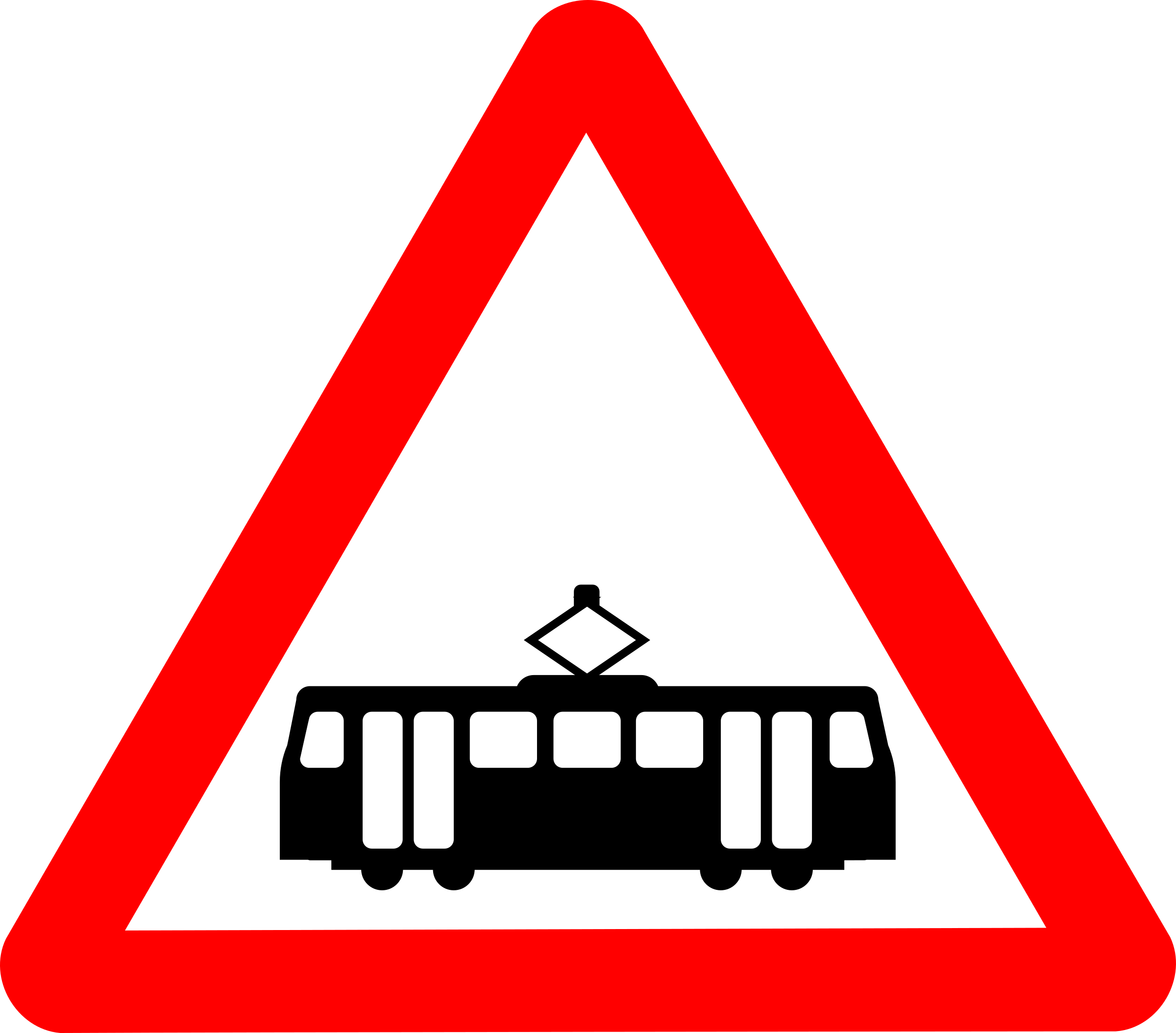 Roadsign tram by Simarilius