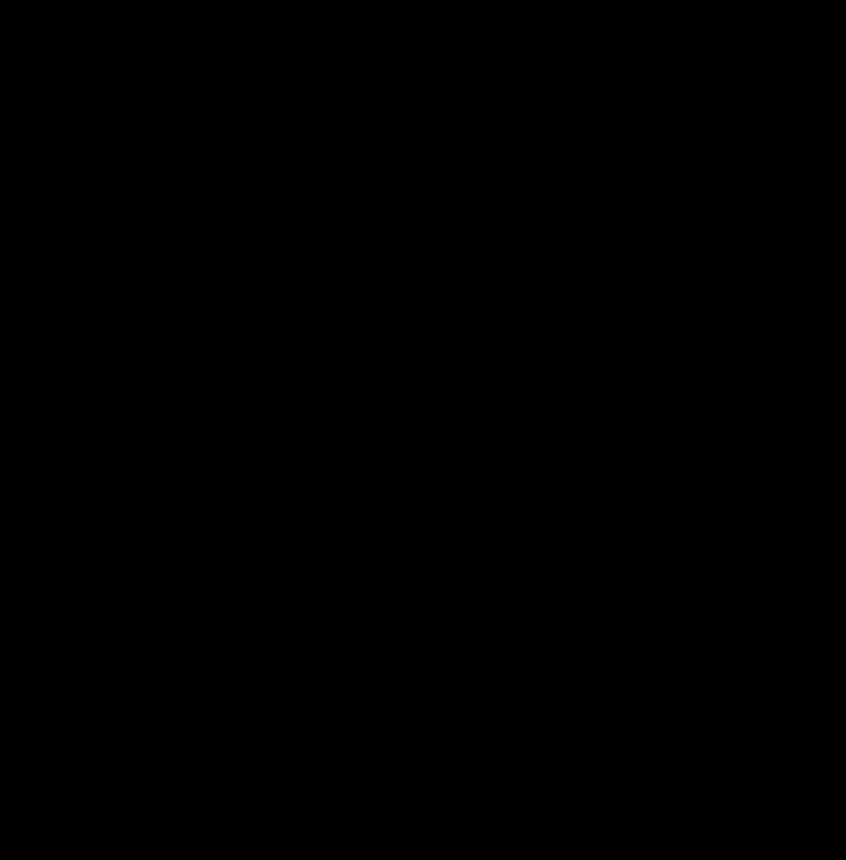 Clipart Om Symbol Hearts Black