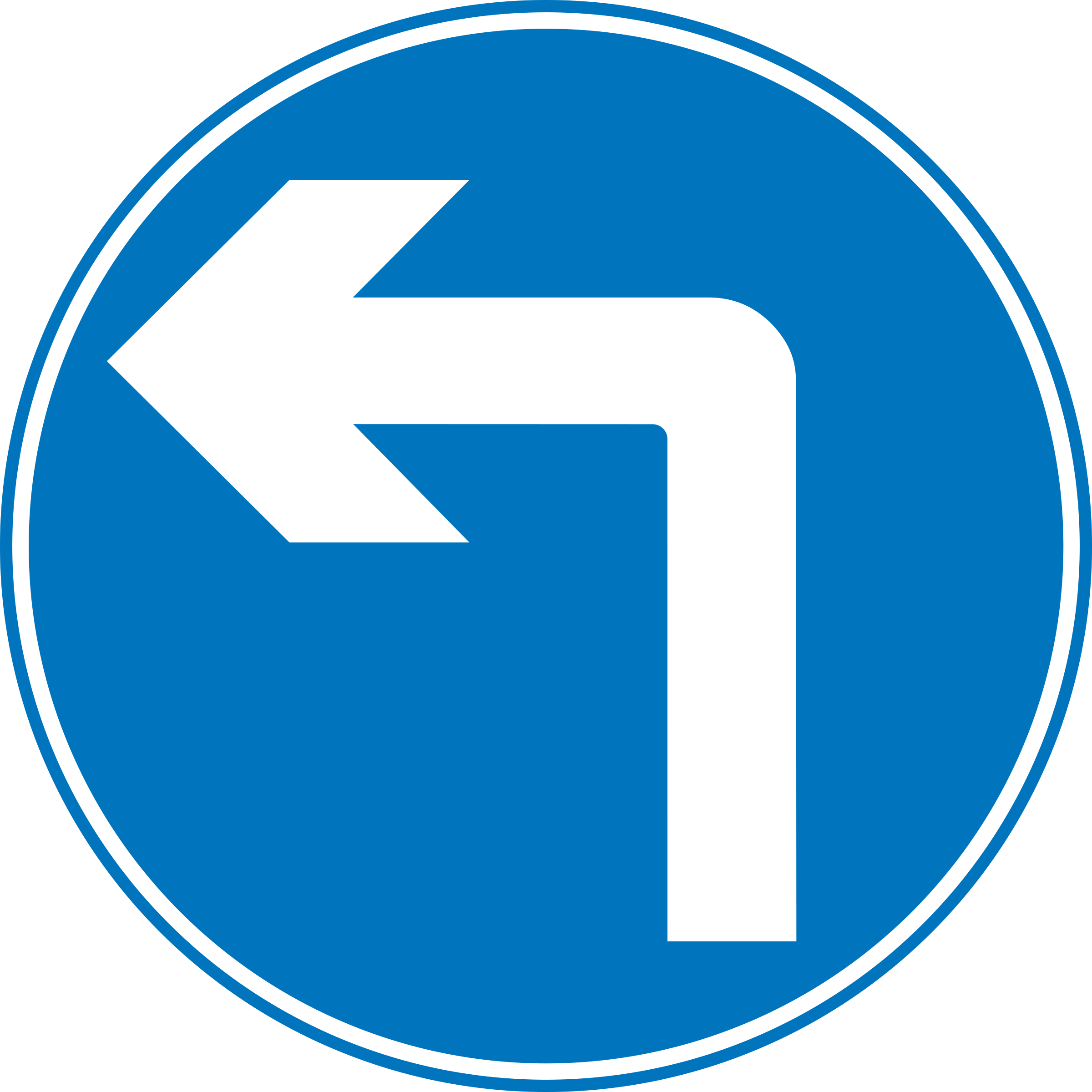 Roadsign turn ahead by Simarilius