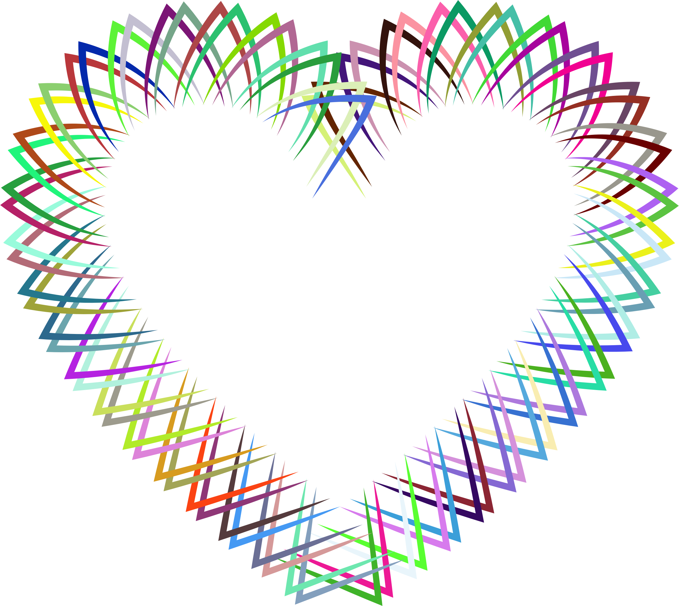 Abstract Geometric Frame I Heart Prismatic by GDJ