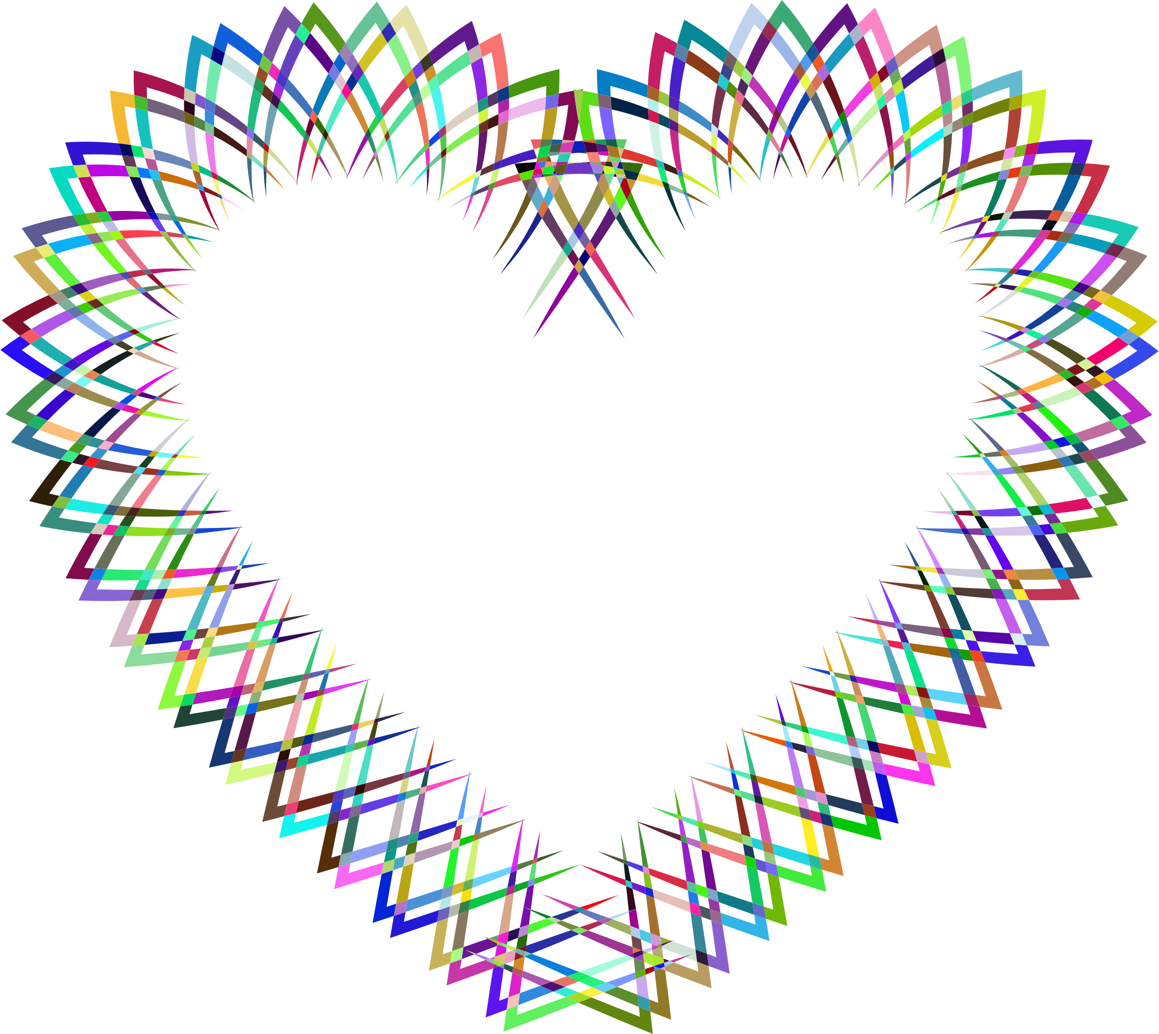 Abstract Geometric Frame I Heart Prismatic 2 by GDJ