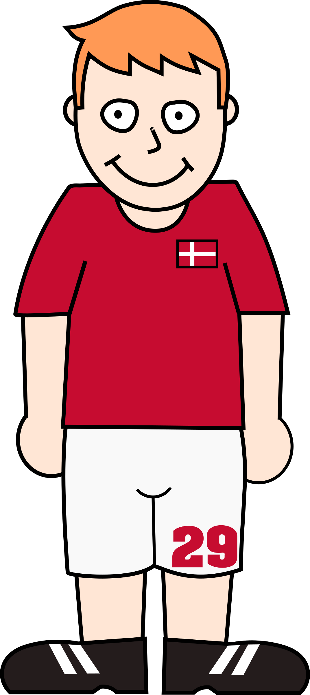 Football player denmark by Bingenberg