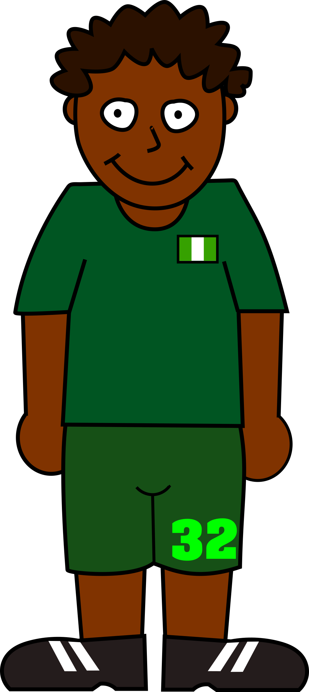 Football player nigeria by Bingenberg