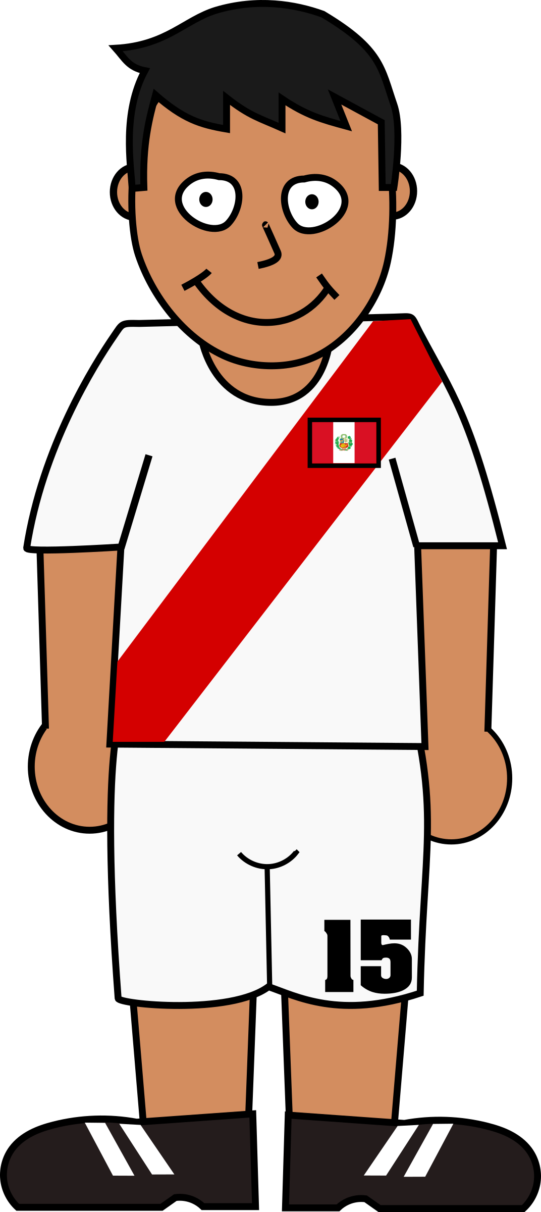 Football player peru by Bingenberg