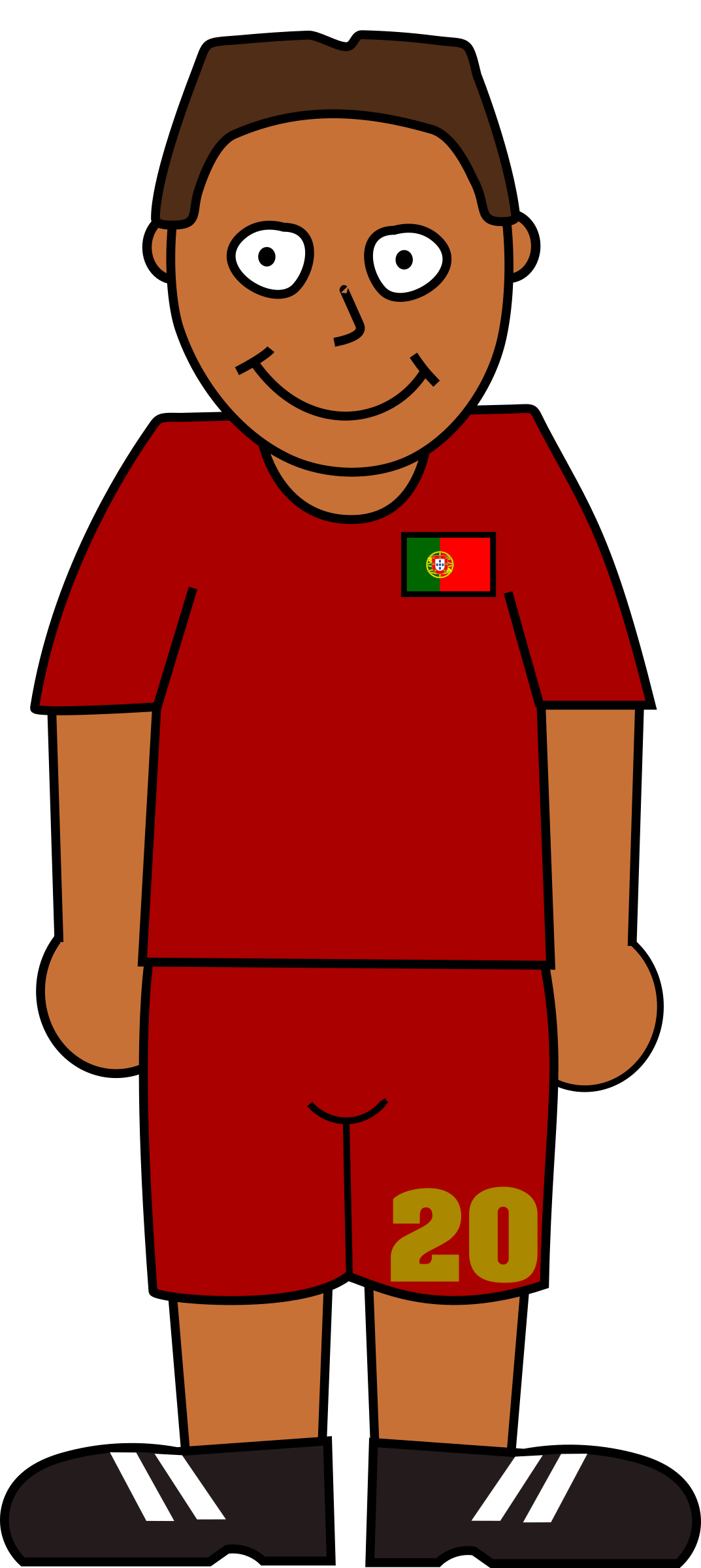 Football player portugal by Bingenberg