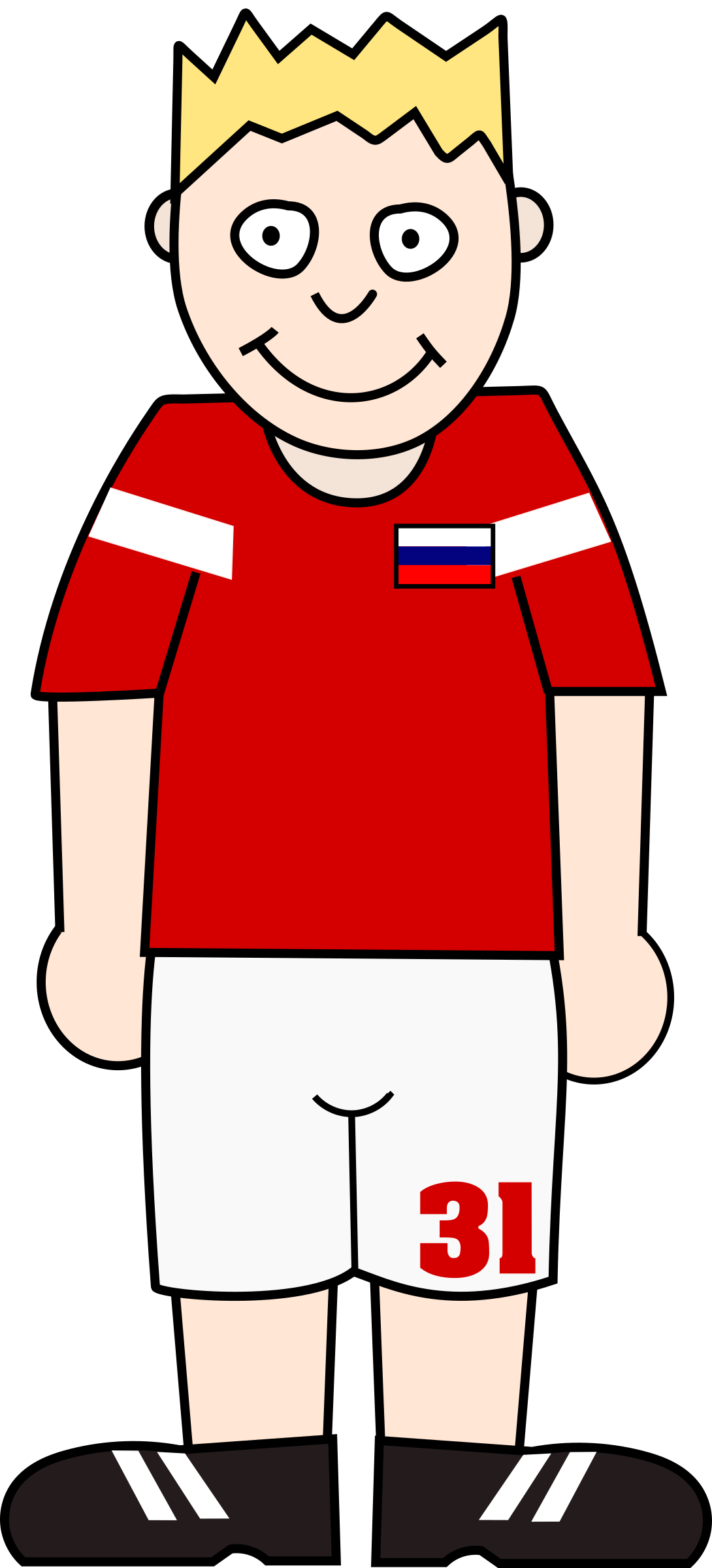 Football player russia by Bingenberg