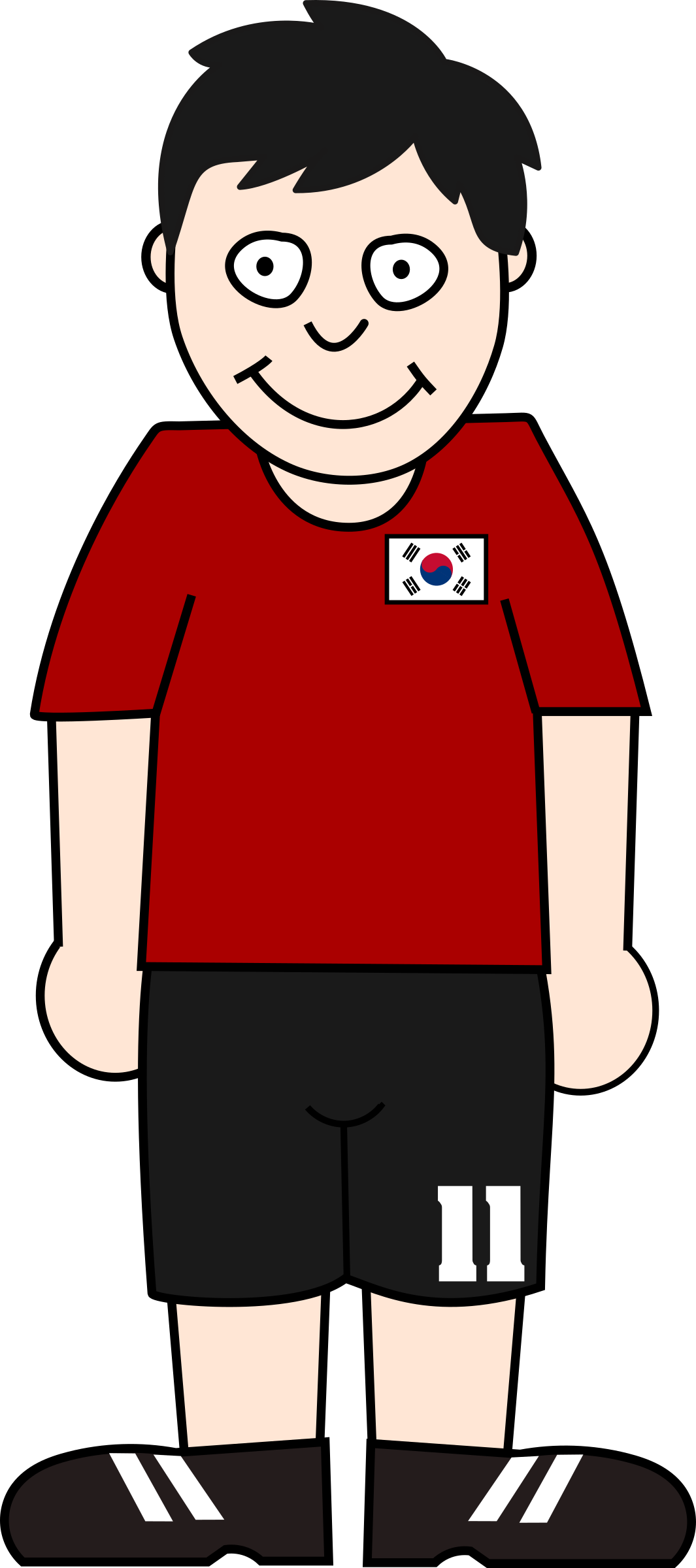Football player south korea by Bingenberg
