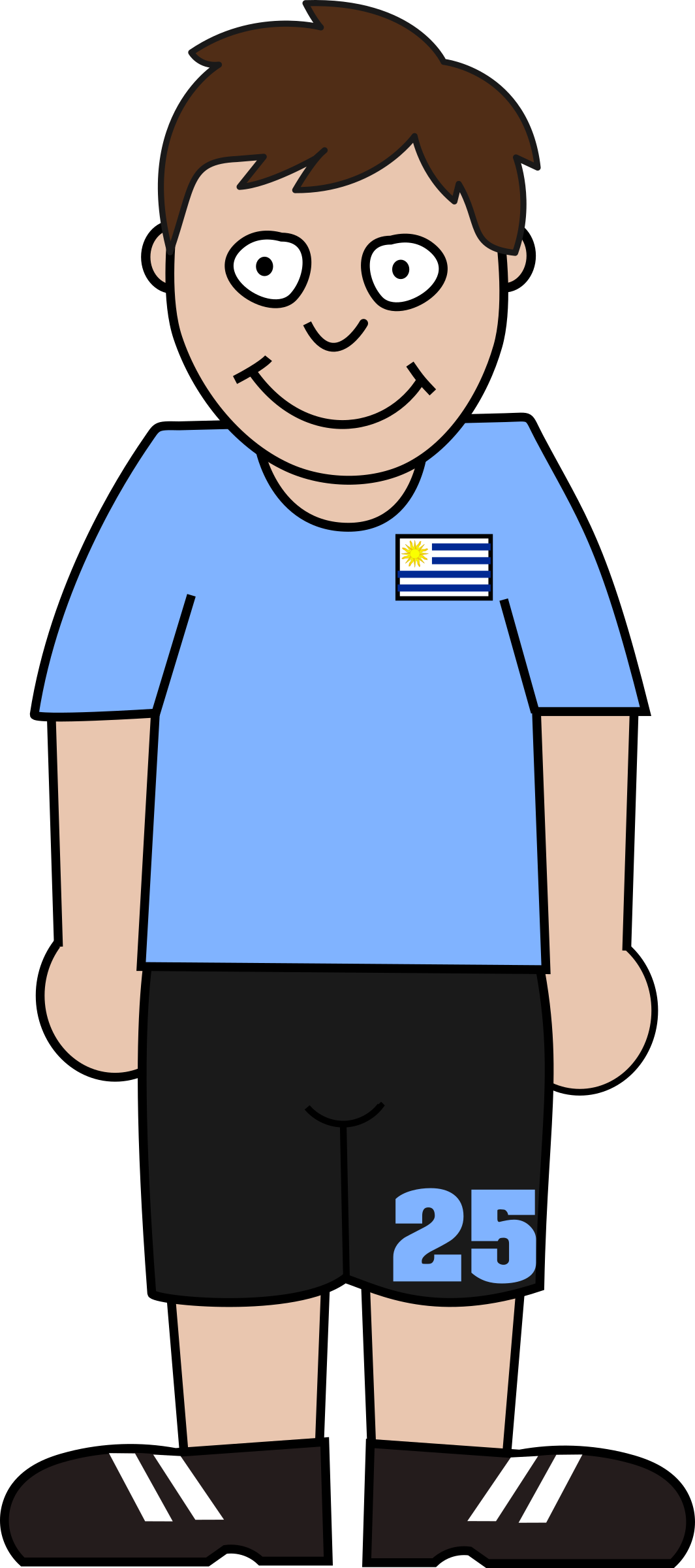 Football player uruguay by Bingenberg