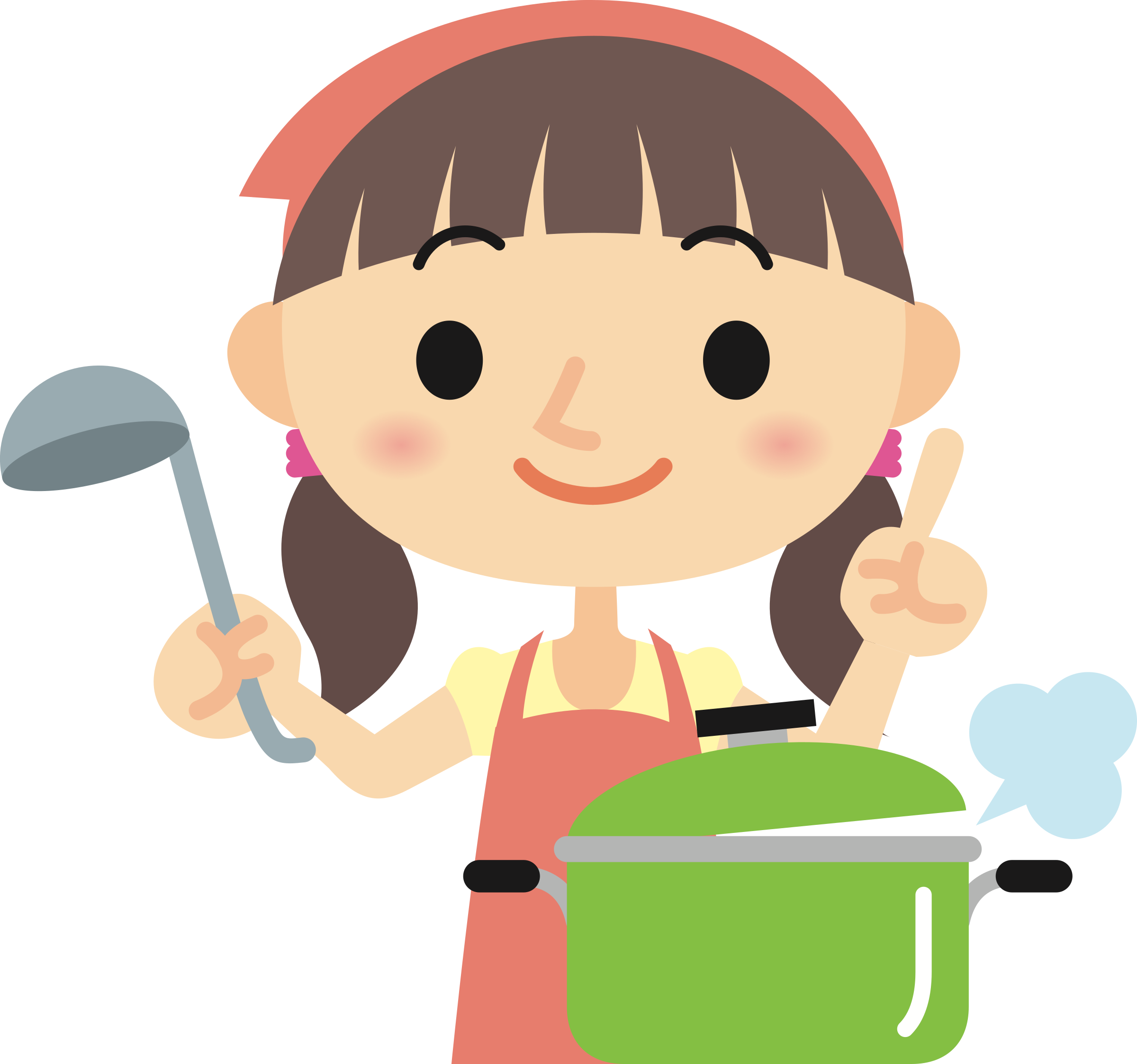 Clipart - Woman Cooking (#2) for woman cooking png  575lpg