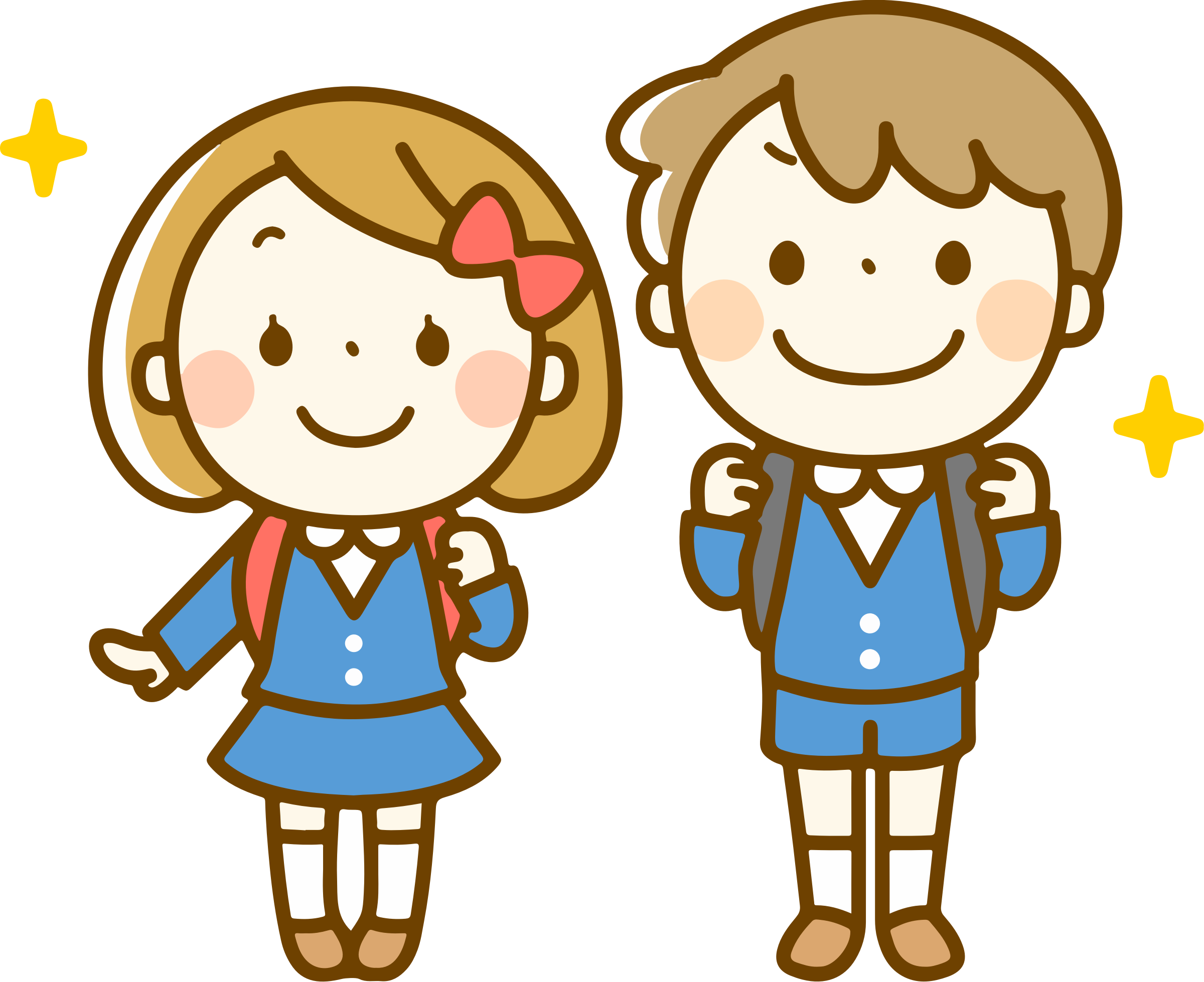 clipart - students with backpacks (#2)