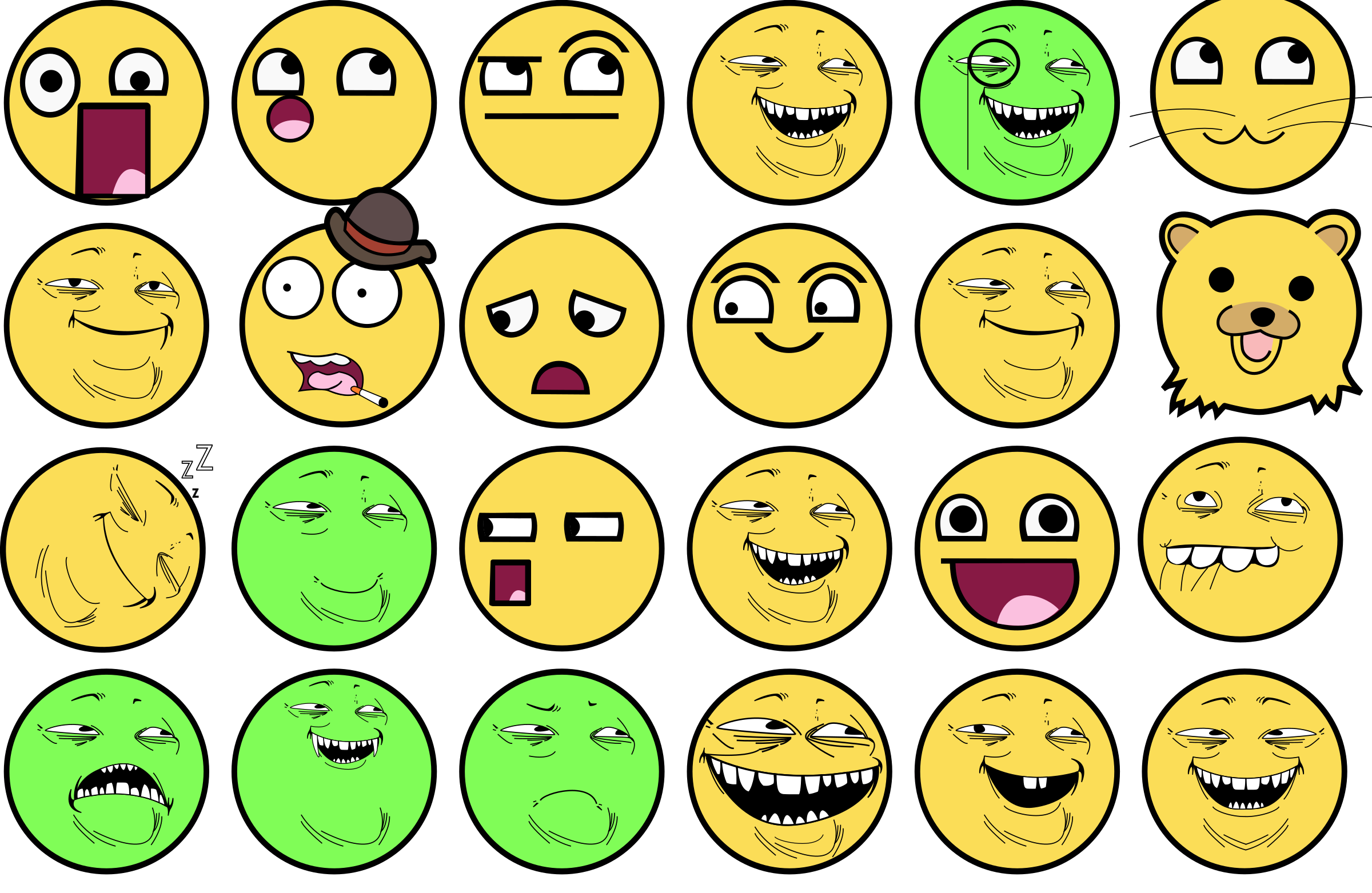 Troll face color by artb1sh