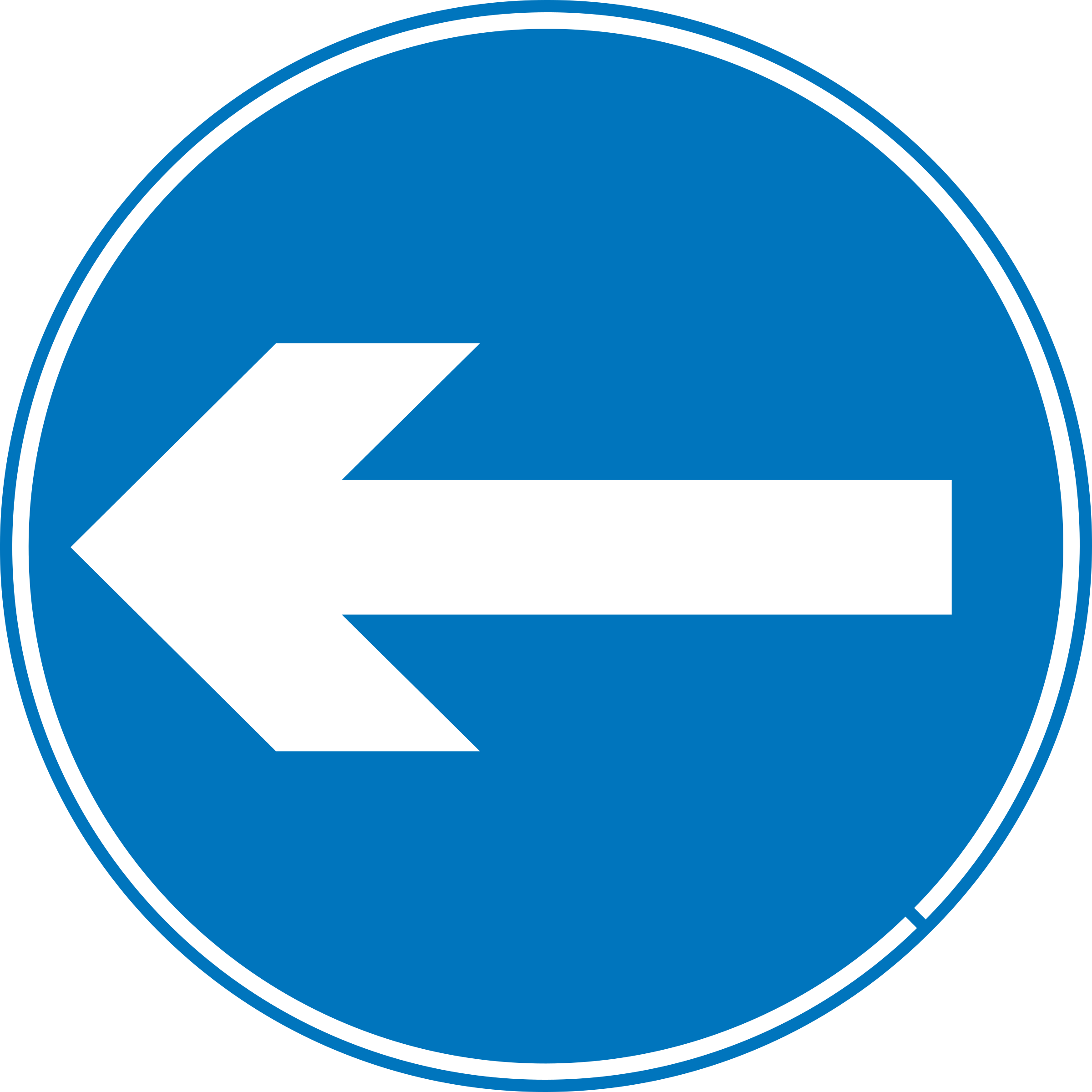 Roadsign turn left by Simarilius