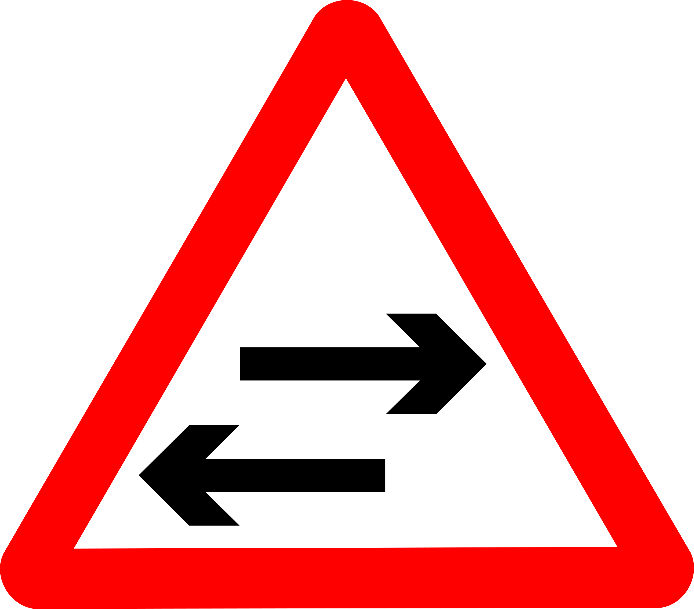 Roadsign two way crosses by Simarilius