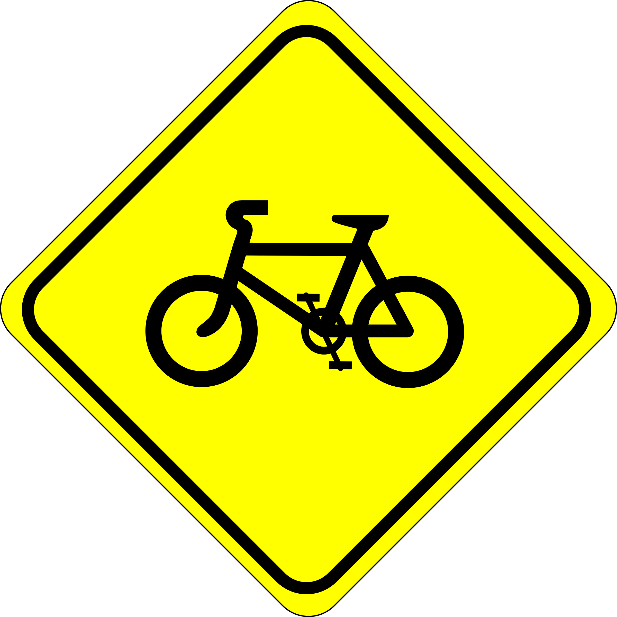 Roadsign watch for bicycles by Simarilius