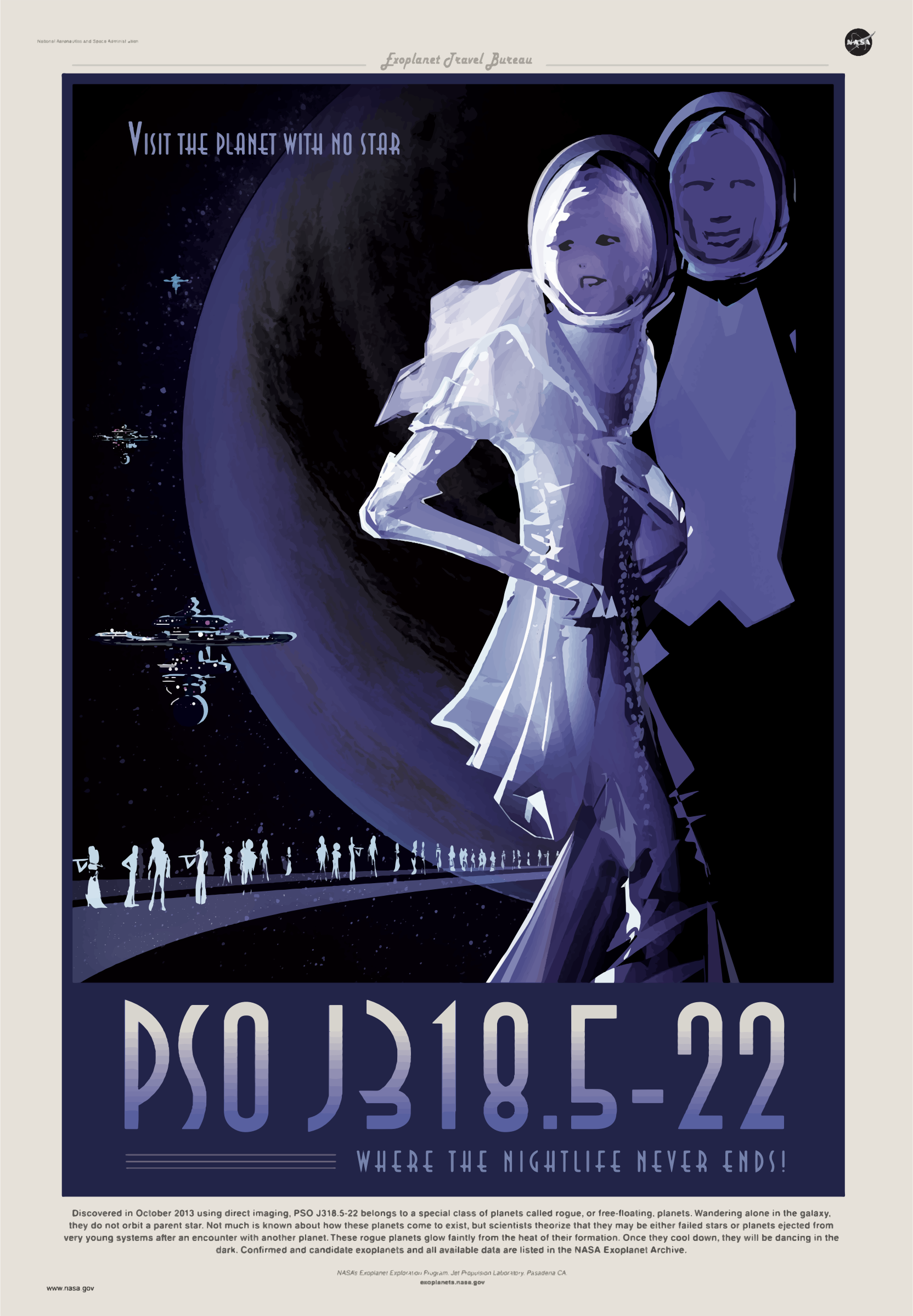Rogue Planet NASA Poster by GDJ