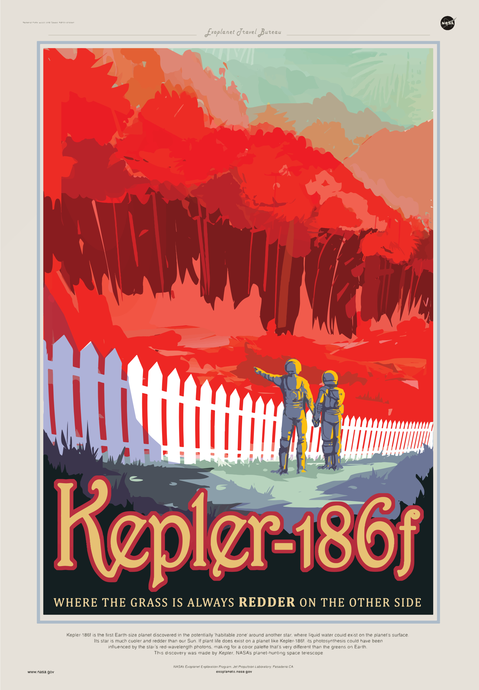 Kepler-186f NASA Poster by GDJ